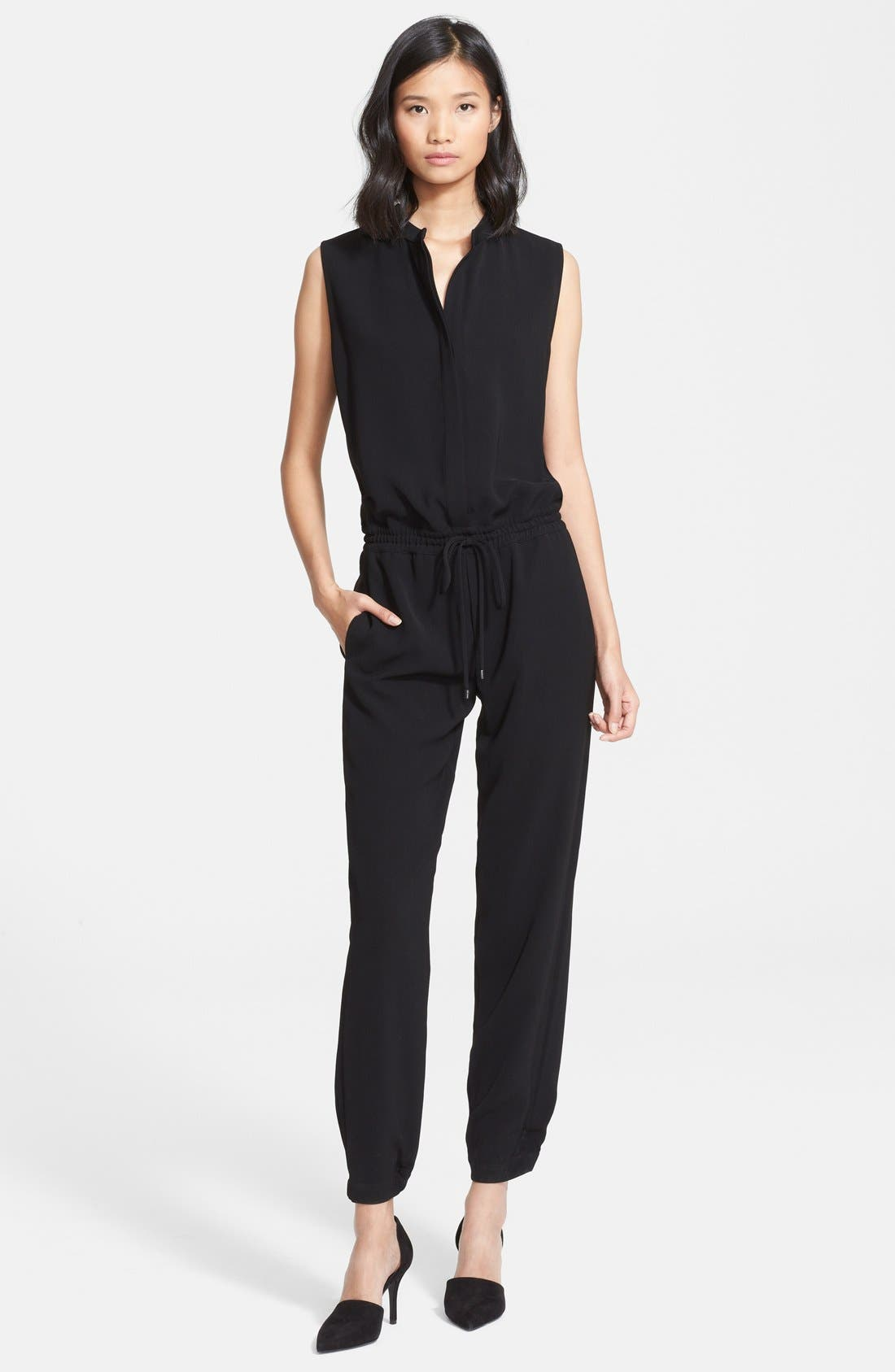 Sleeveless Jumpsuit,                         Main,                         color, 001