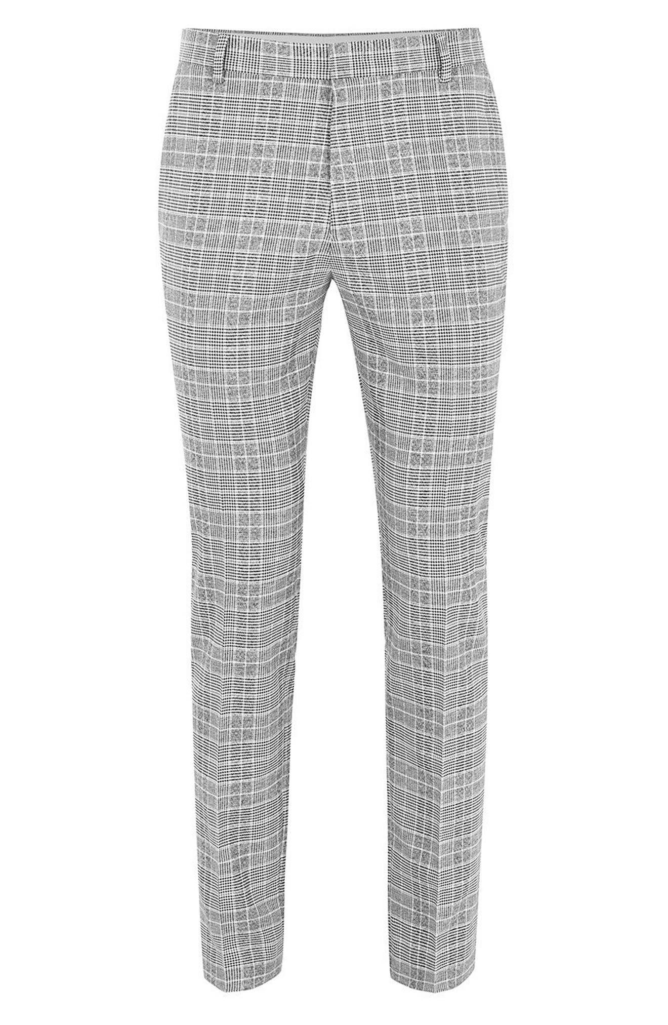 Check Trousers,                             Alternate thumbnail 6, color,                             BLACK