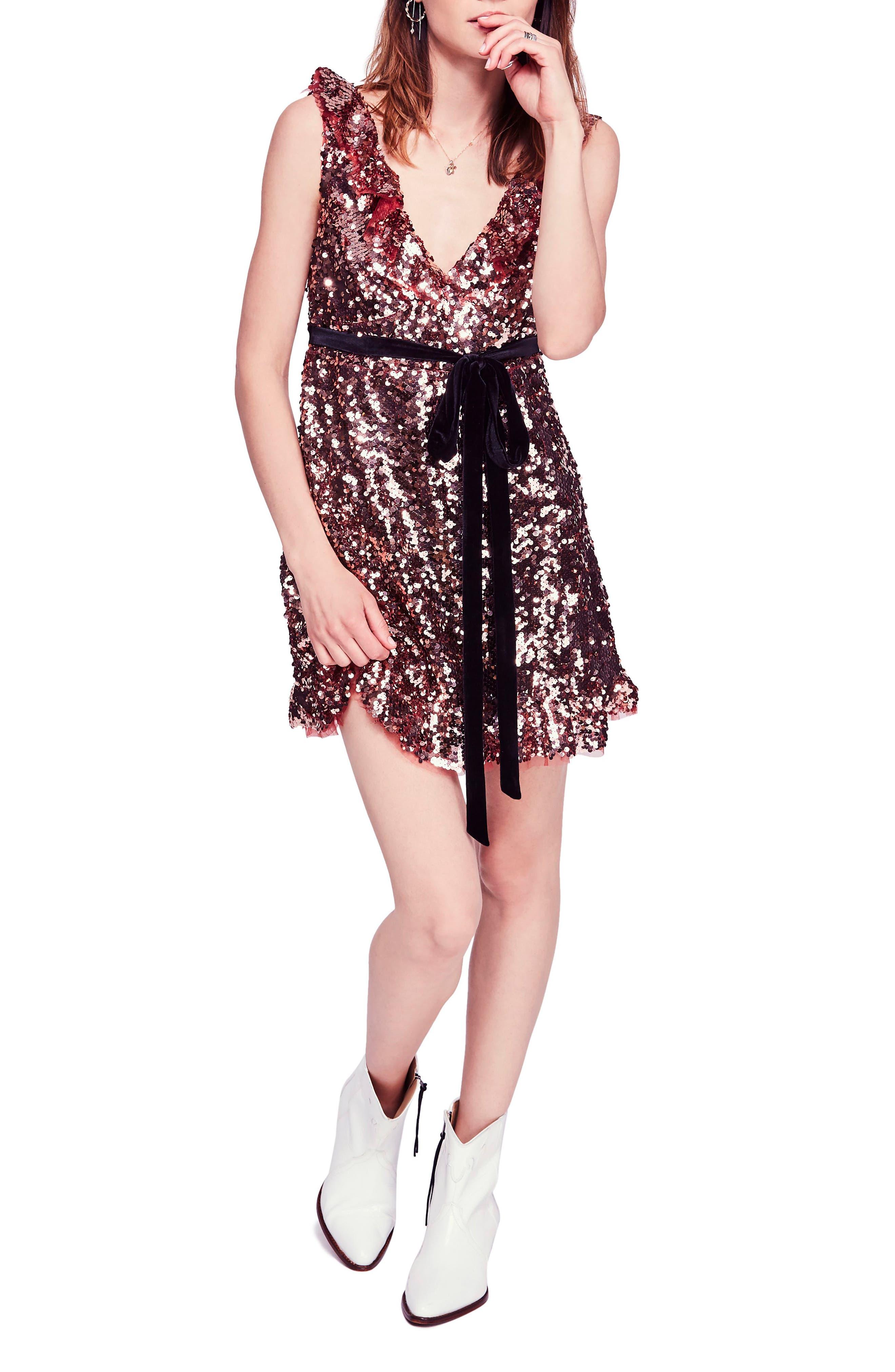 Free People Siren Sequin Dress, Pink