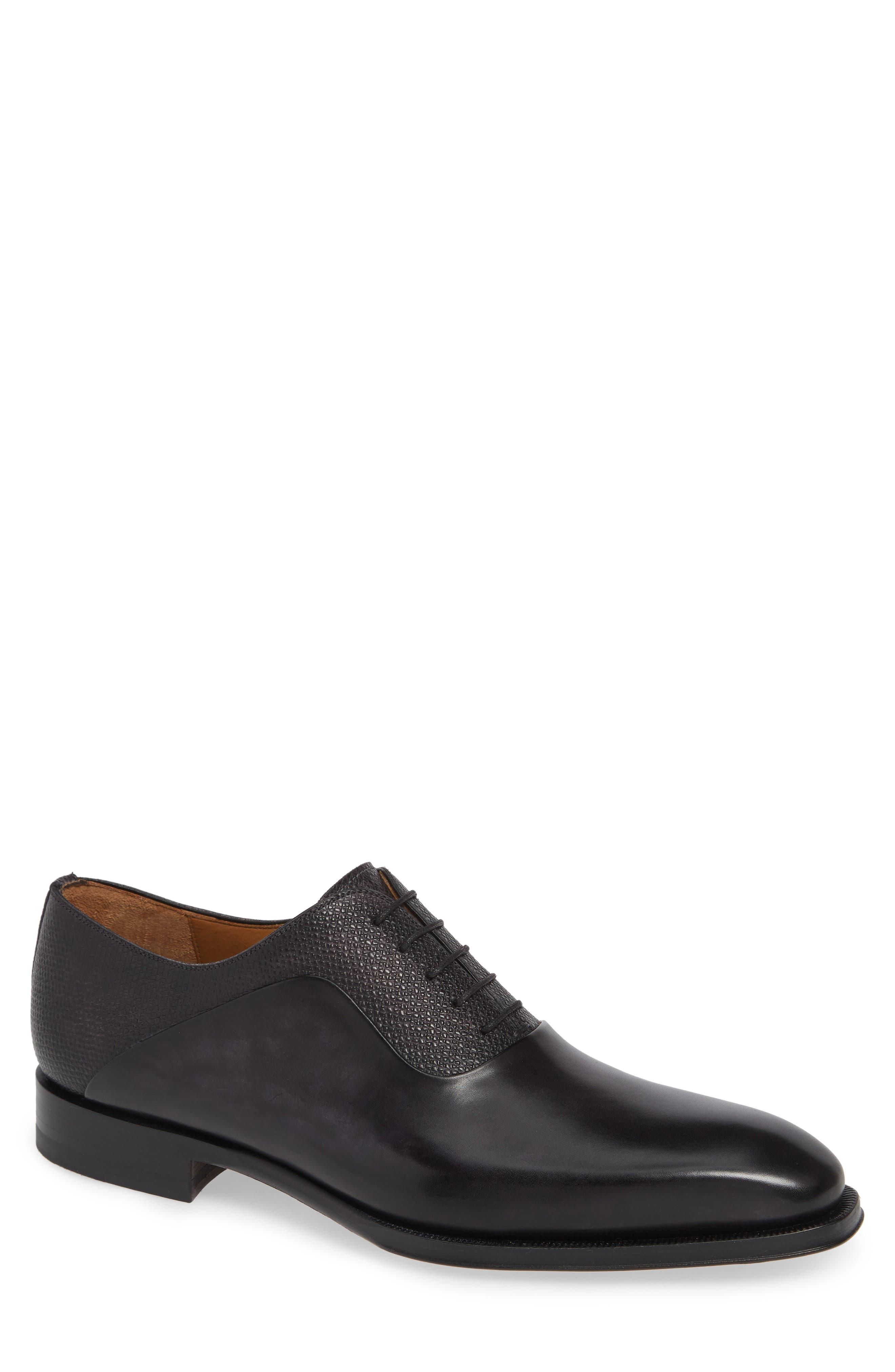 Hugh Plain Toe Oxford,                         Main,                         color, GREY LEATHER