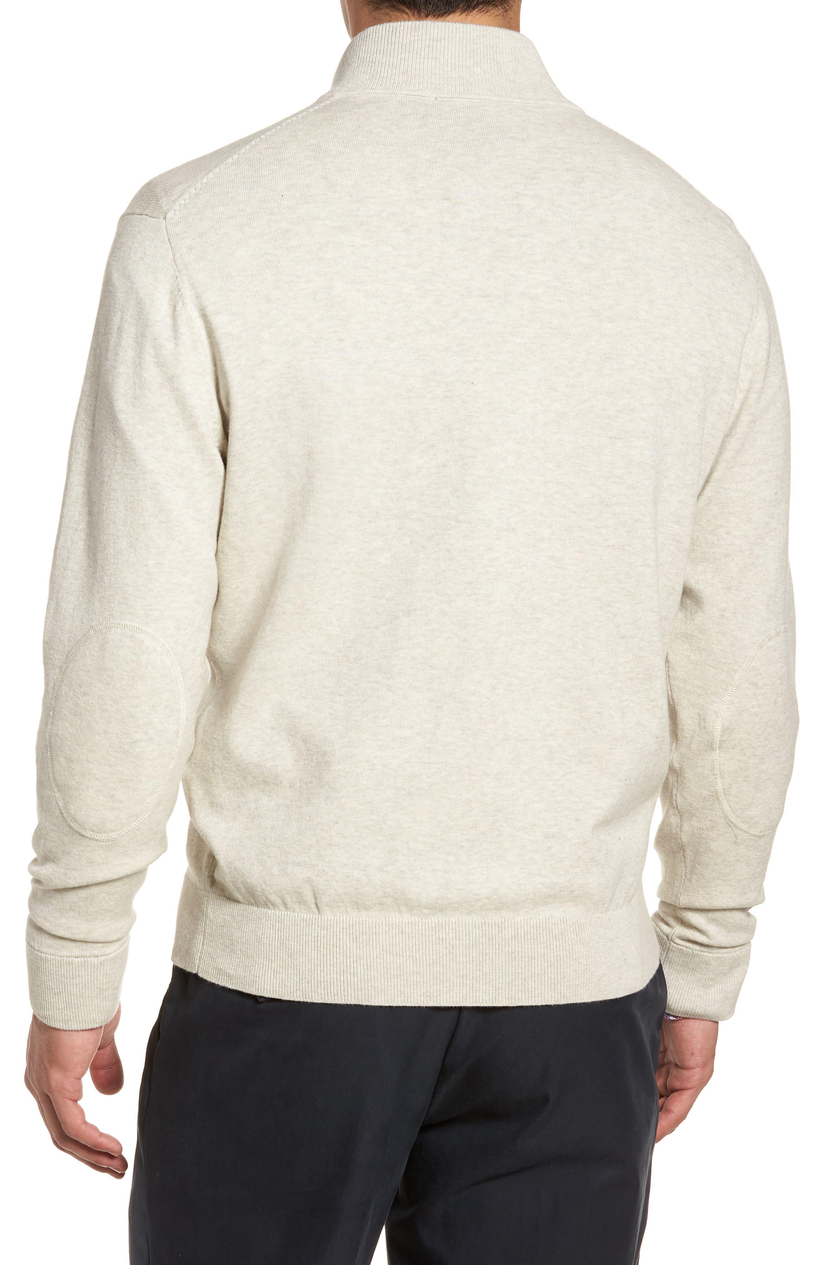 CUTTER & BUCK,                             Lakemont Classic Fit Quarter Zip Sweater,                             Alternate thumbnail 2, color,                             OATMEAL HEATHER