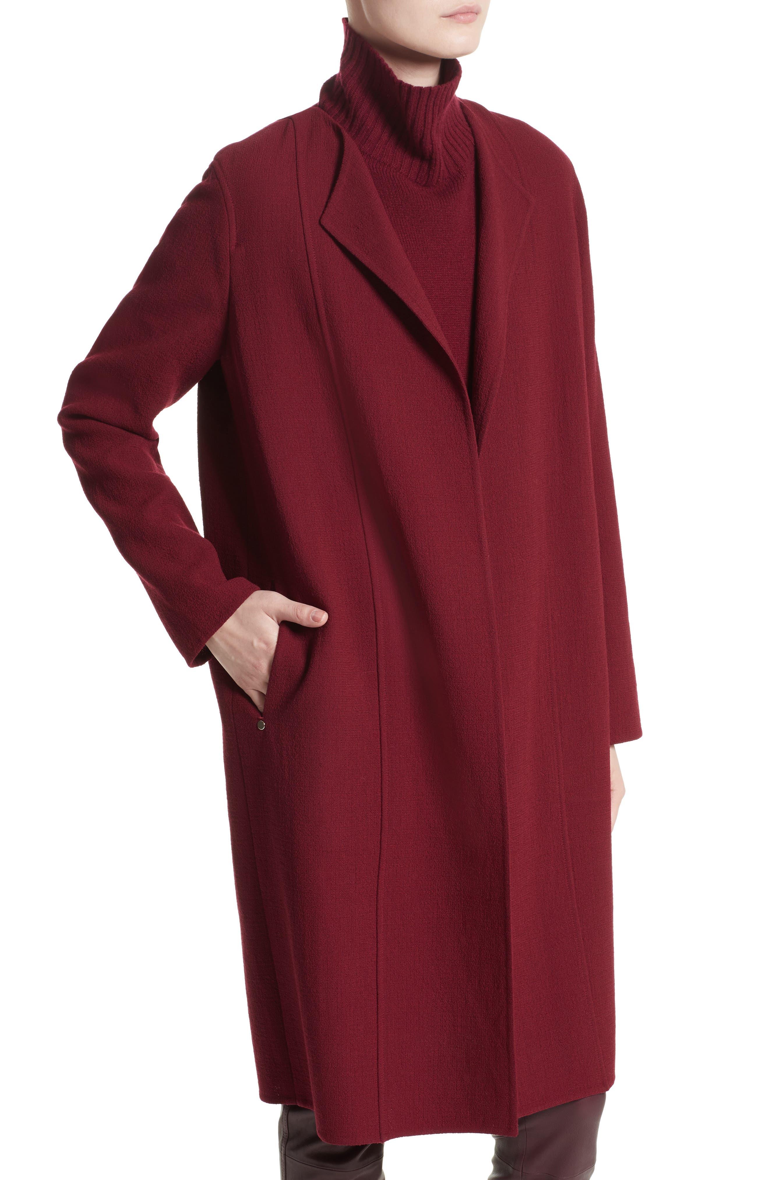 Robyn Nouveau Crepe Coat,                             Alternate thumbnail 4, color,