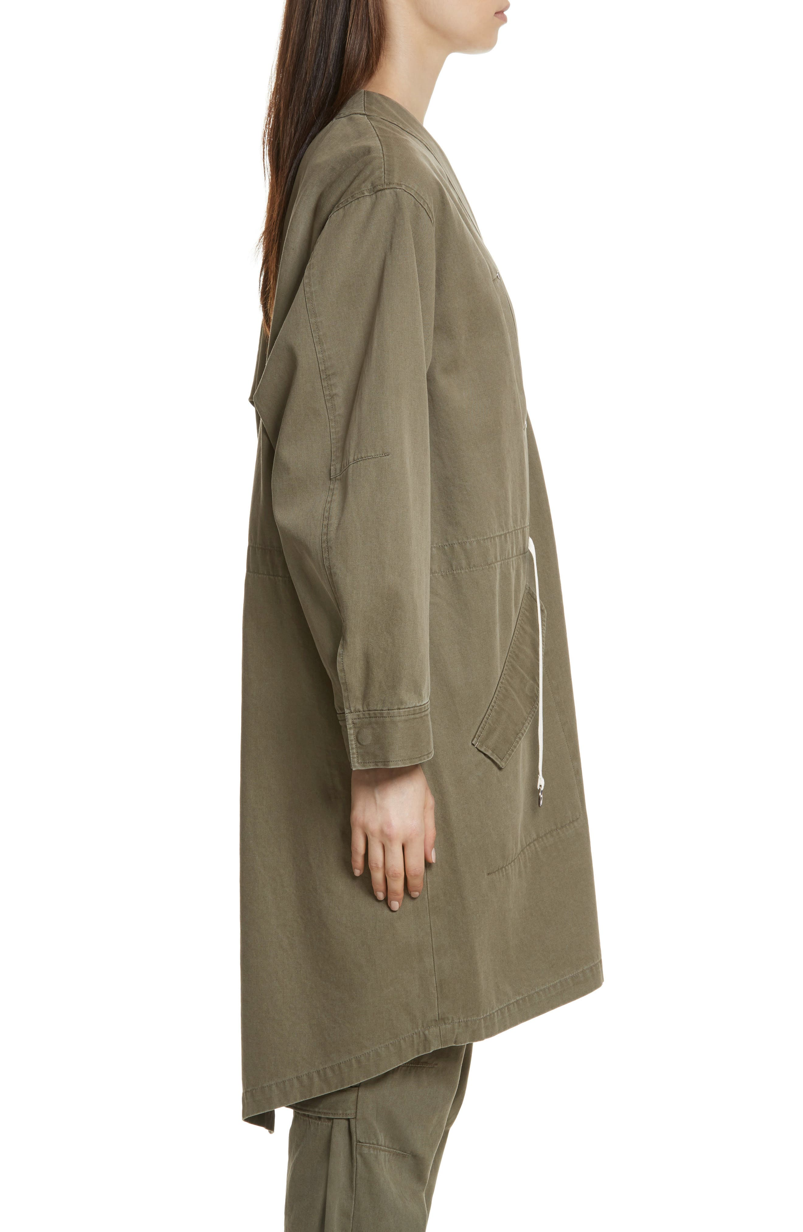 T by Alexander Wang Longline Twill Jacket,                             Alternate thumbnail 3, color,                             309