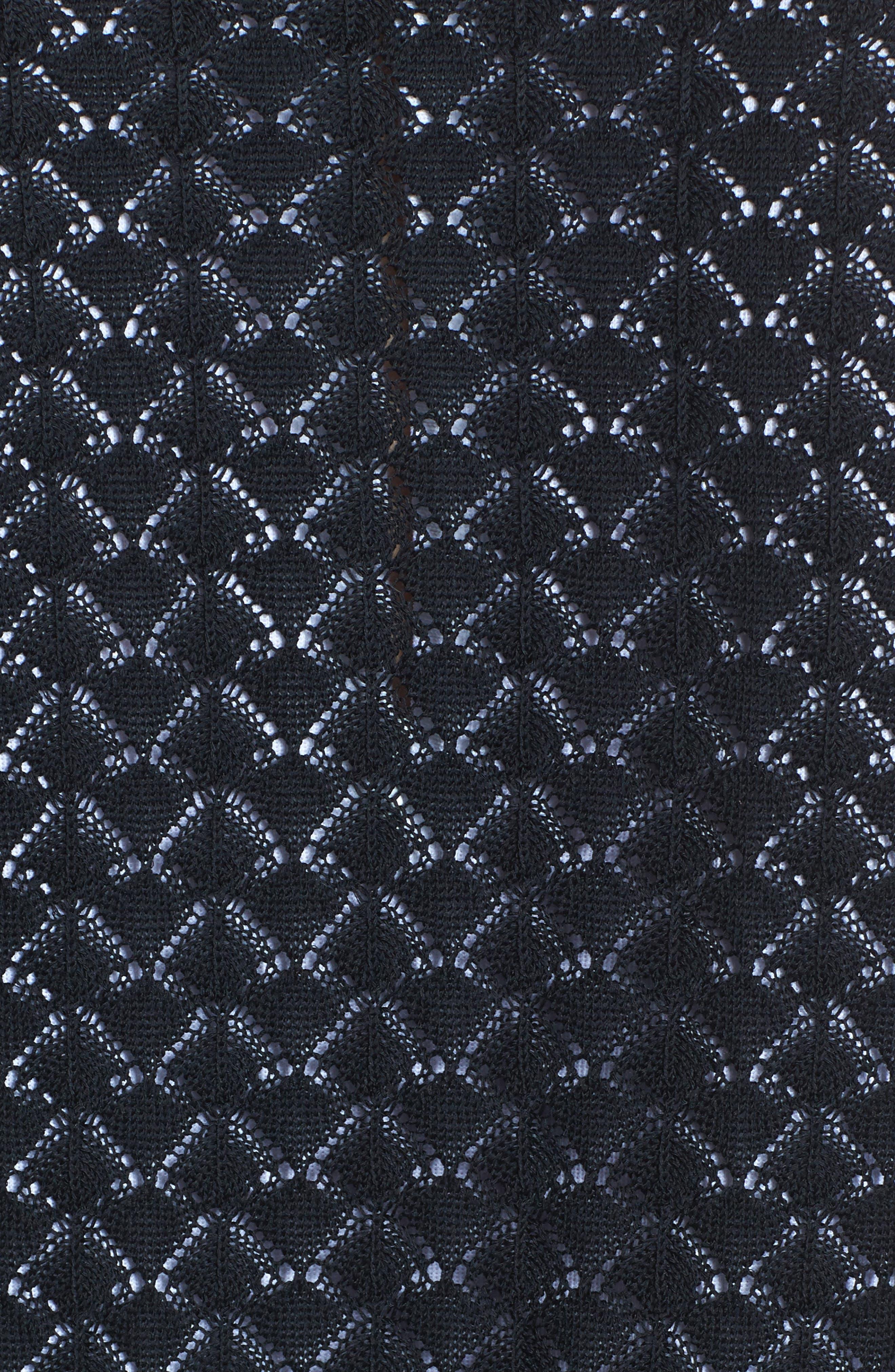 Studded Pointelle Sweater Jacket,                             Alternate thumbnail 6, color,                             001