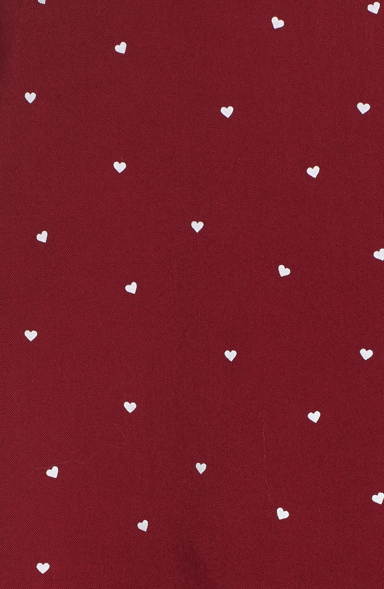 Short Pajamas,                             Alternate thumbnail 5, color,                             WHITE RED MINI HEARTS