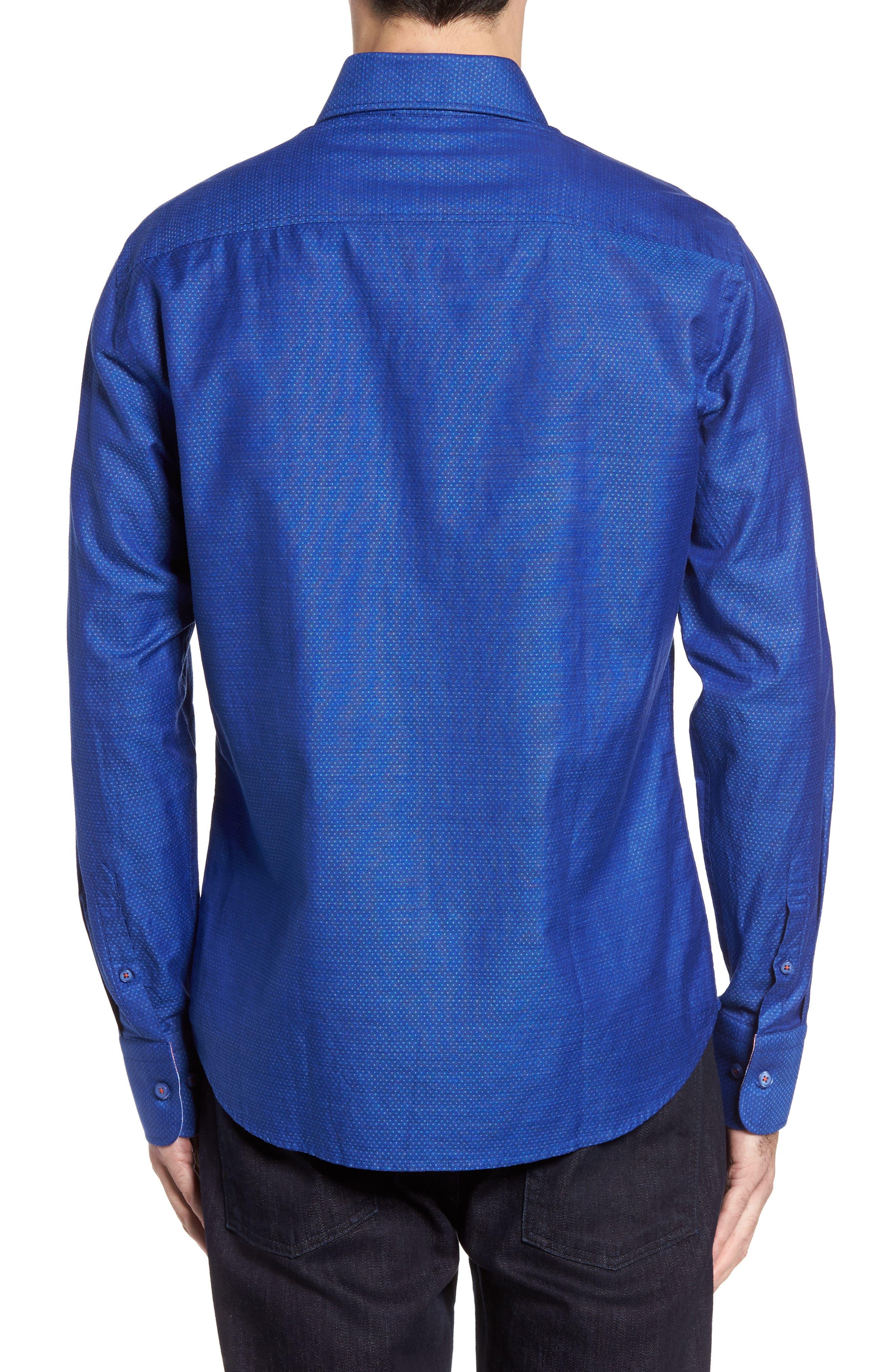 Dobby Cotton & Linen Sport Shirt,                             Alternate thumbnail 7, color,
