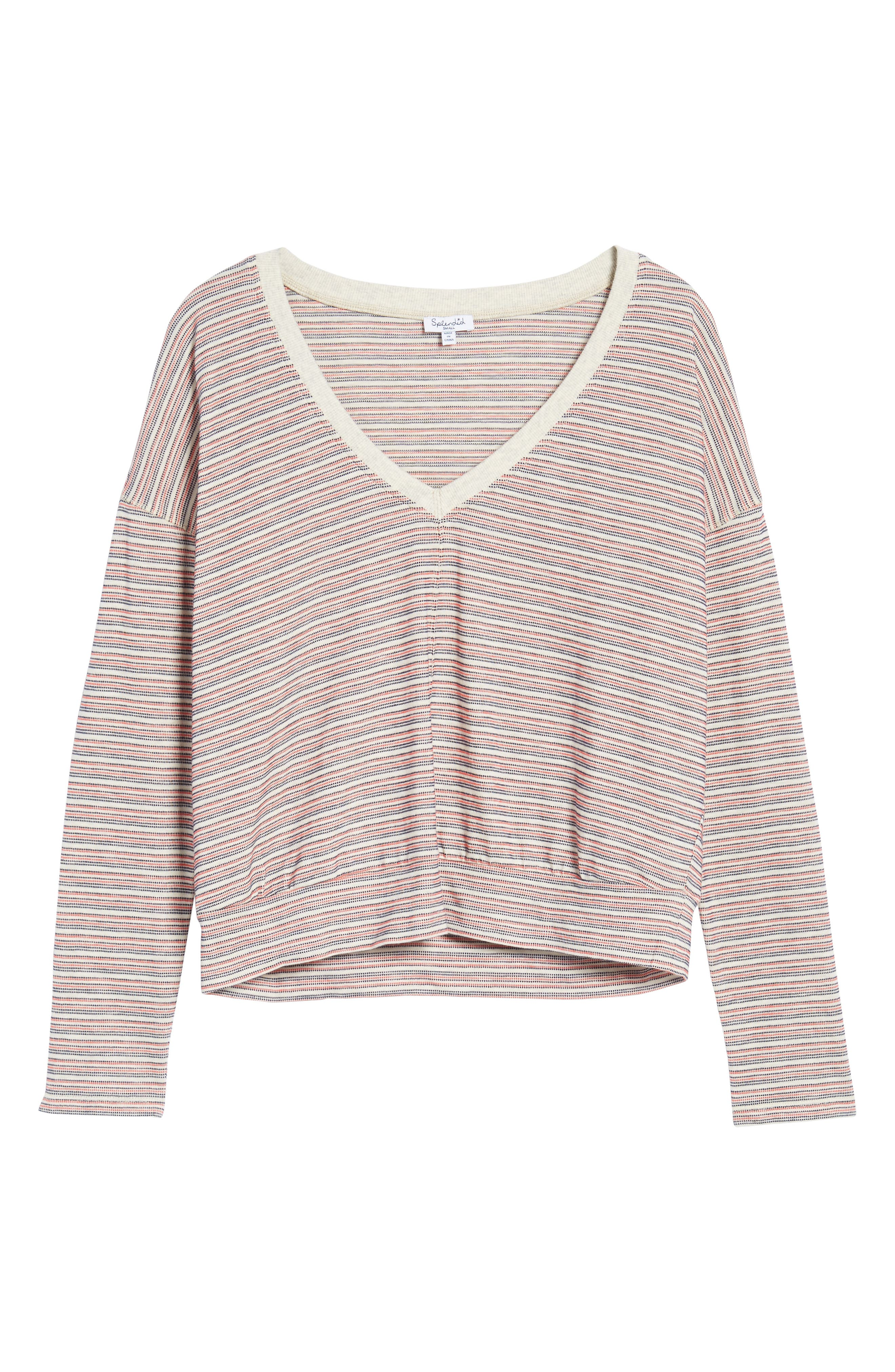 Stripe Pullover,                             Alternate thumbnail 6, color,