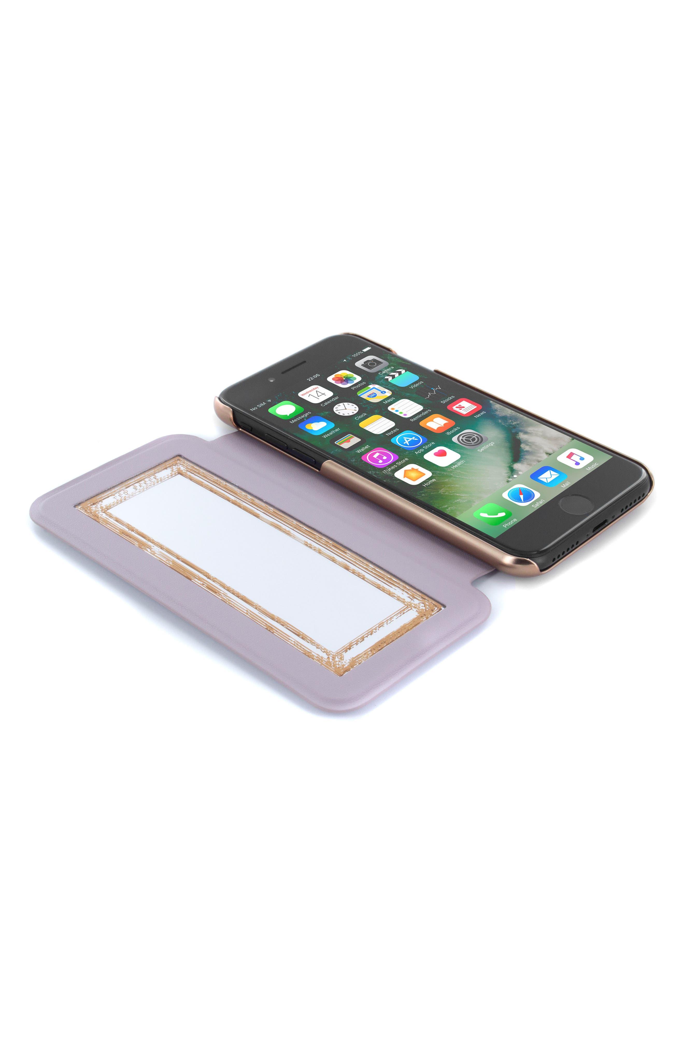 Shannon iPhone 6/6s/7/8 & 6/6s/7/8 Plus Mirror Folio Case,                             Alternate thumbnail 2, color,                             530
