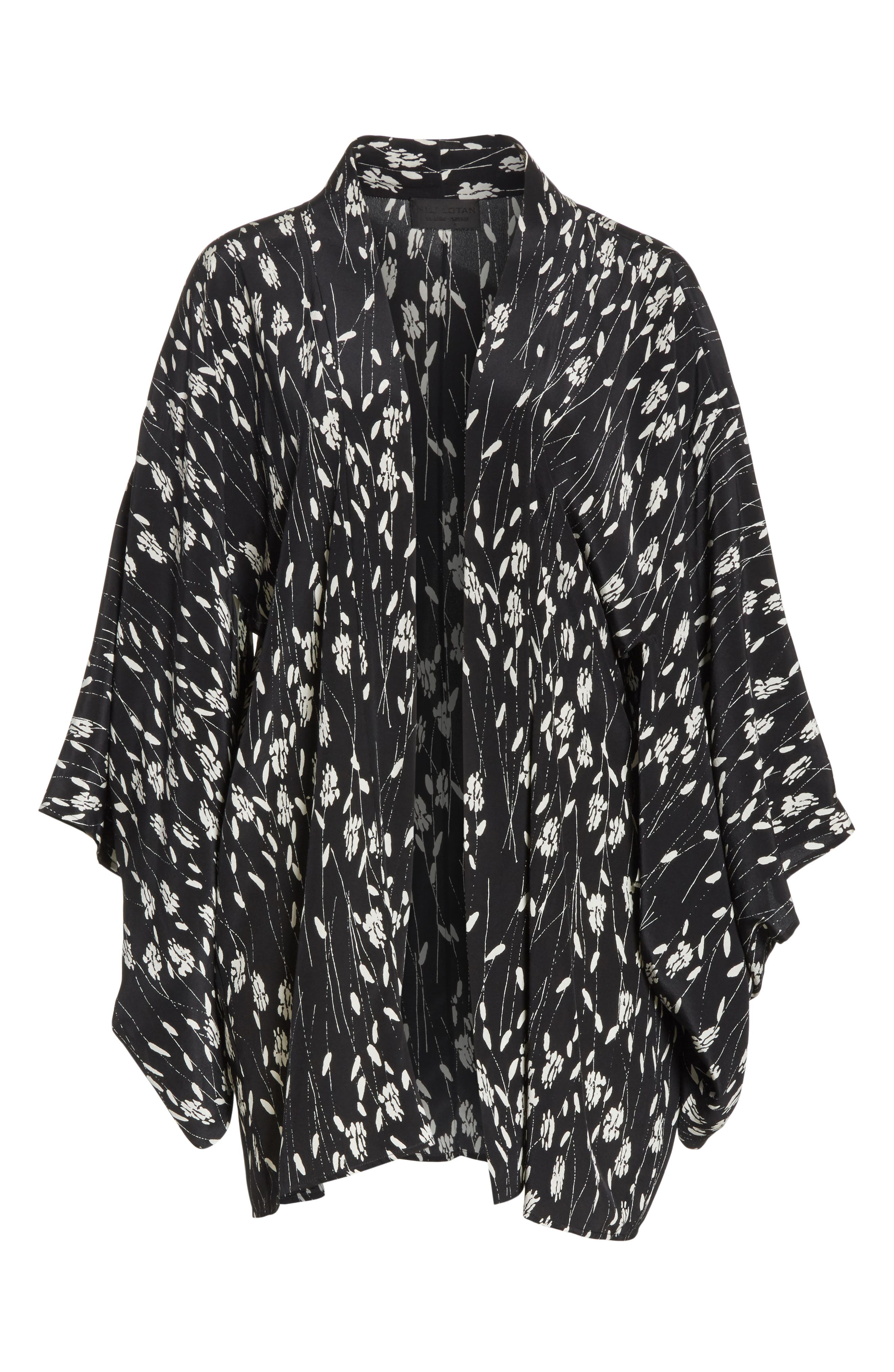 Kima Silk Cover-Up Kimono,                             Alternate thumbnail 6, color,                             003