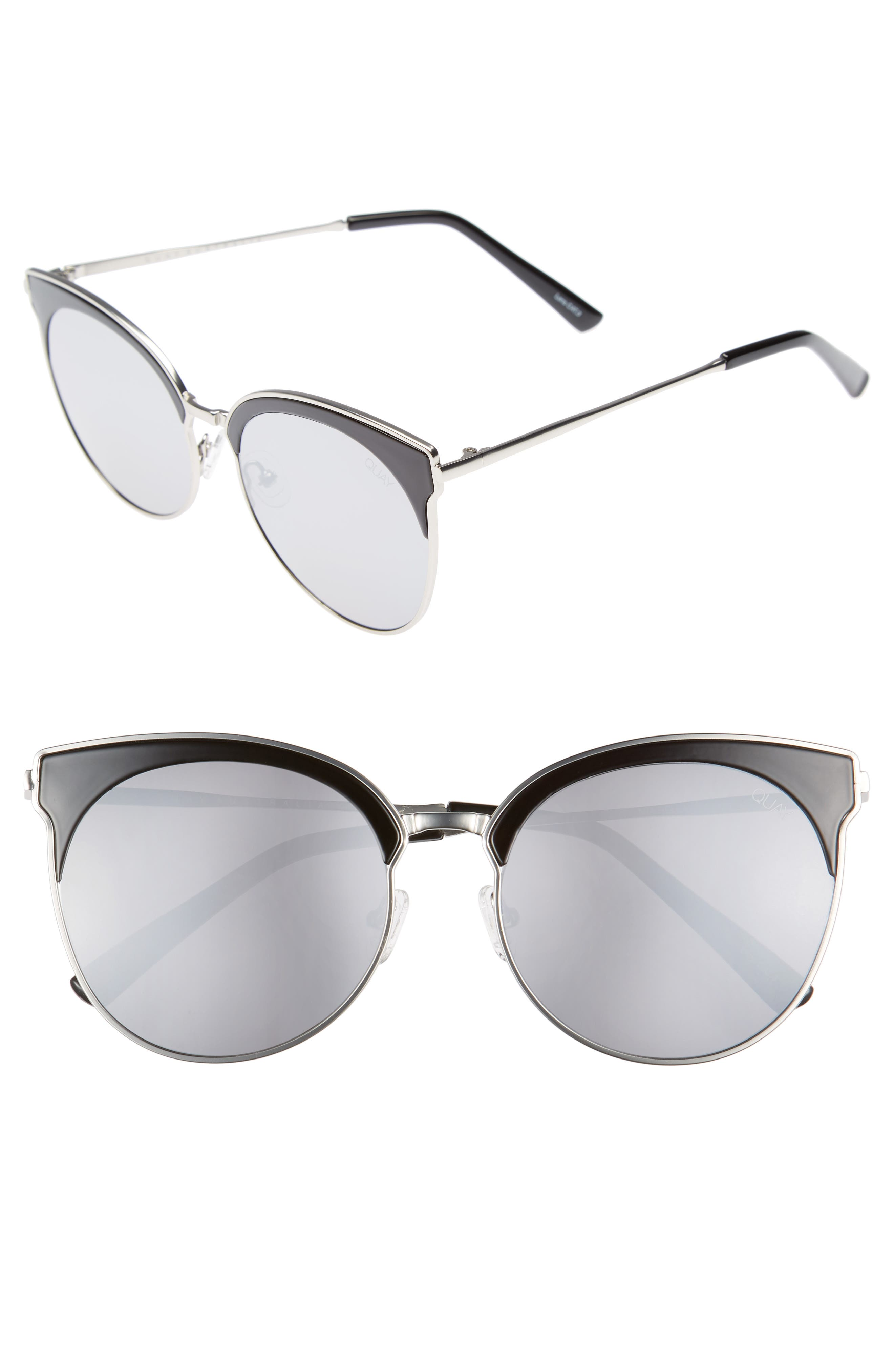 Mia Bella 56mm Sunglasses,                         Main,                         color, 001