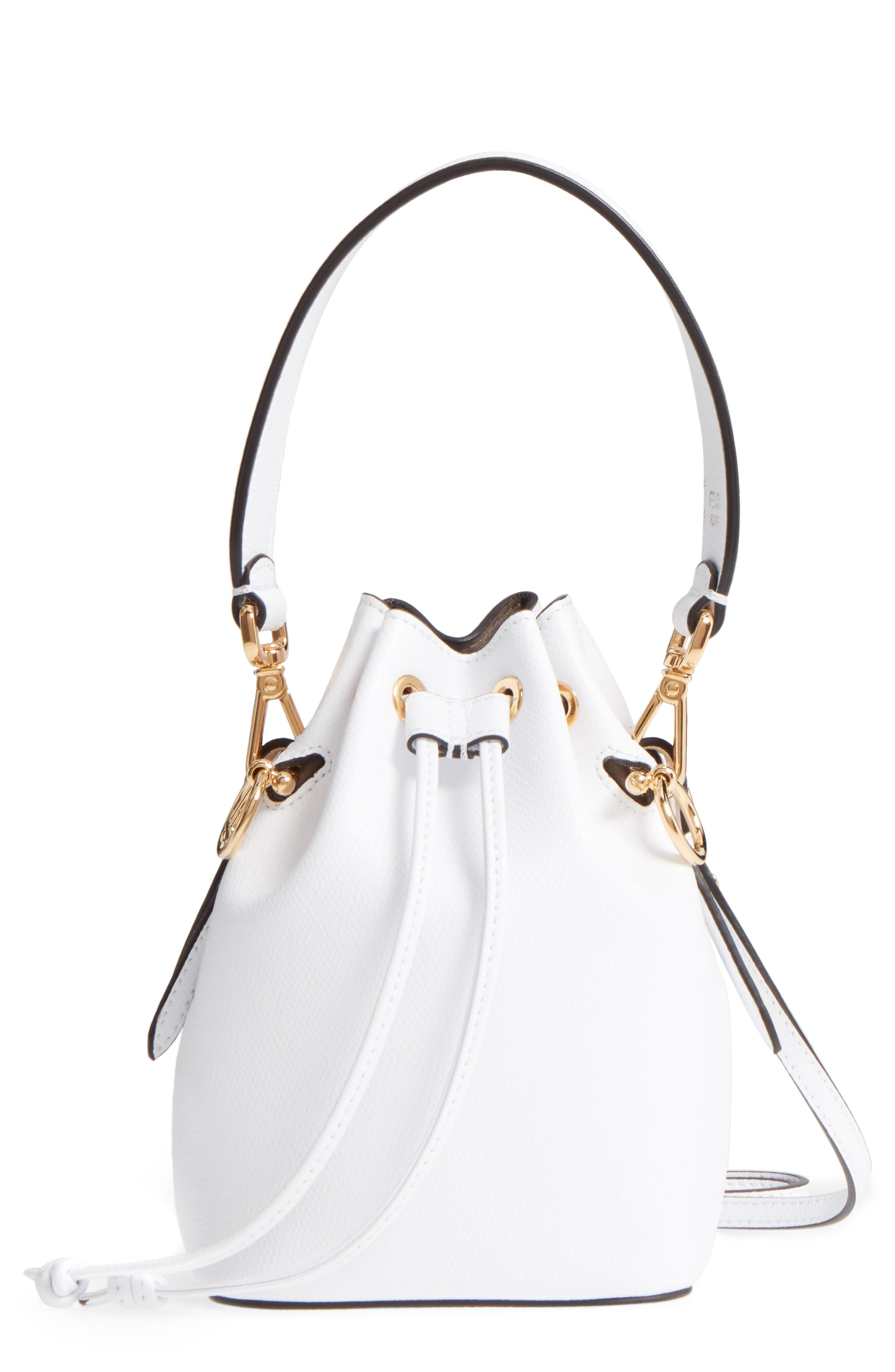 Mini Leather Bucket Bag,                             Main thumbnail 1, color,
