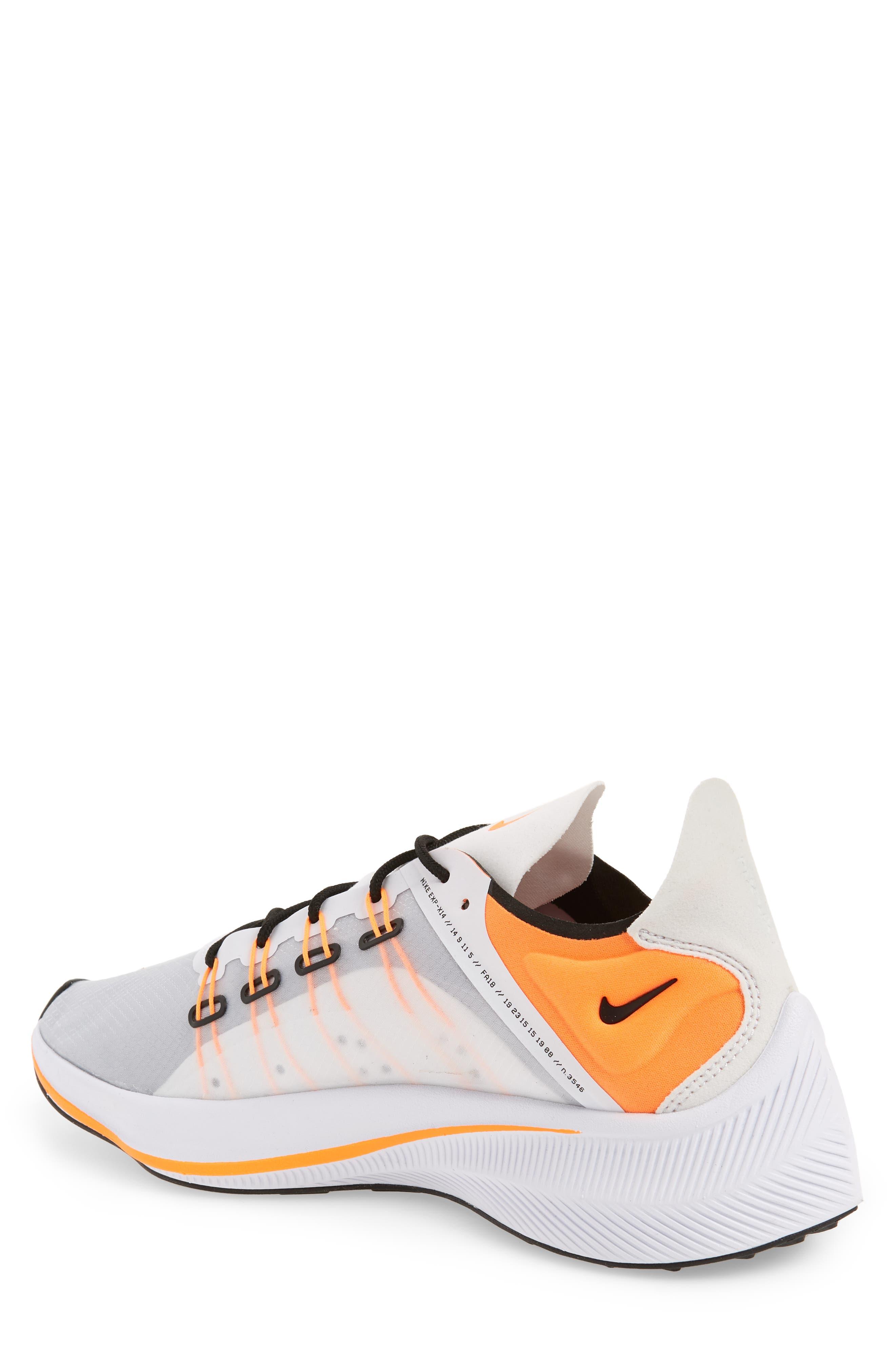 EXP-X14 Just Do It Sneaker,                             Alternate thumbnail 2, color,                             WHITE/ TOTAL ORANGE/ BLACK