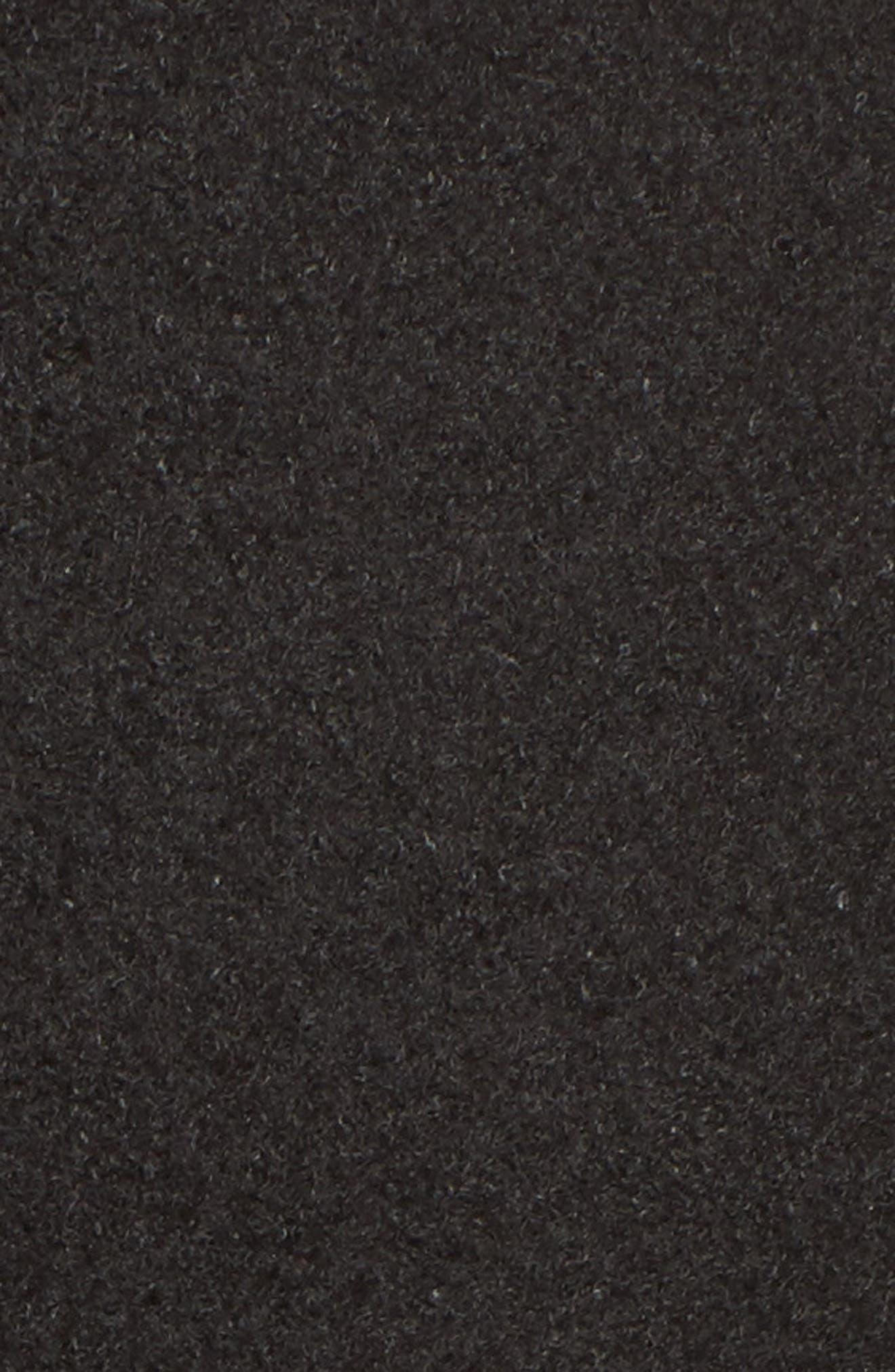 Single Breasted Ruffle Hem Coat,                             Alternate thumbnail 6, color,                             001