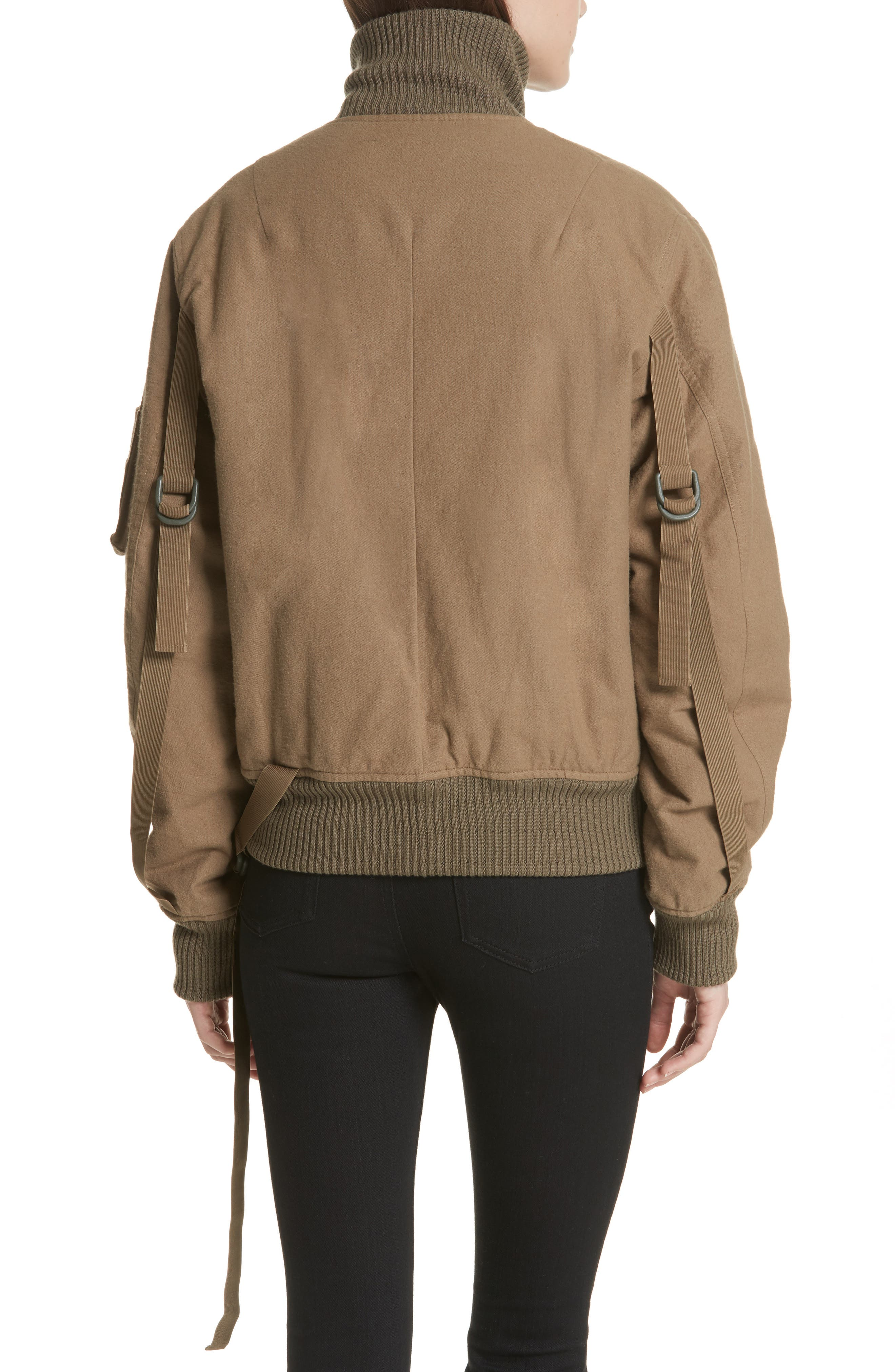 Re-Edition High Collar Bomber Jacket,                             Alternate thumbnail 2, color,                             317