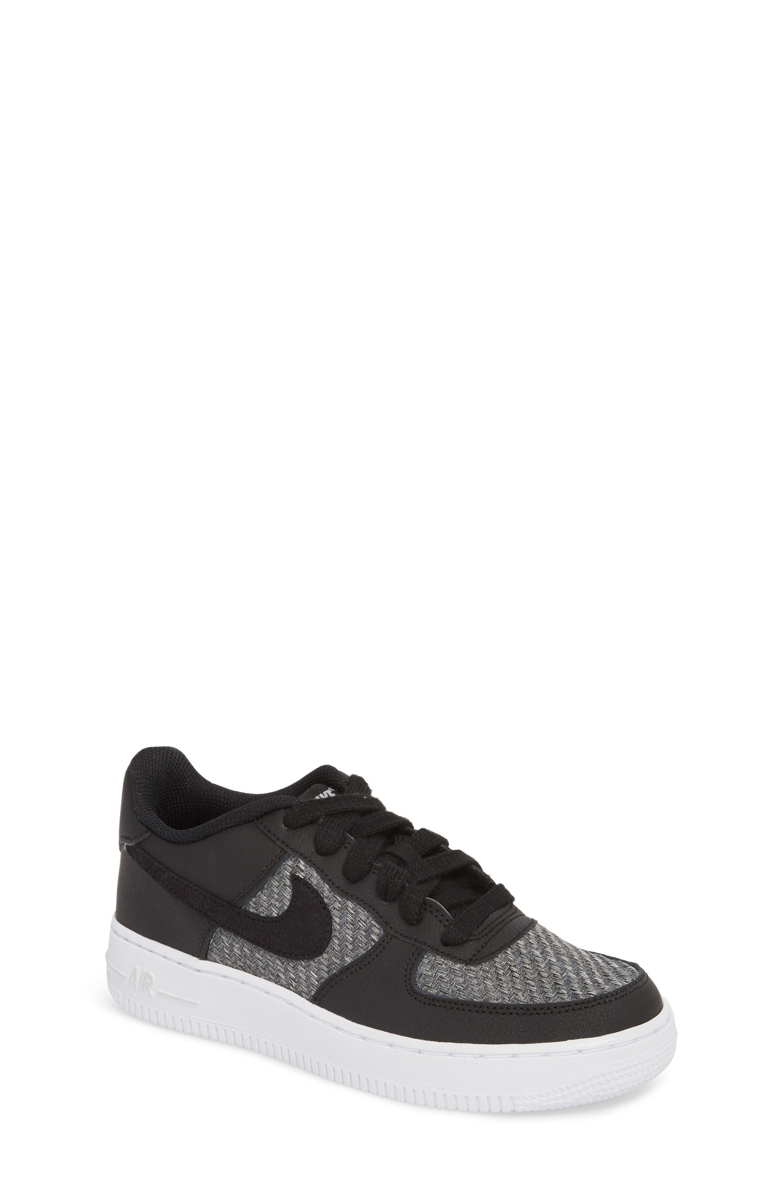 Air Force 1 LV8 Sneaker,                         Main,                         color, BLACK/ BLACK/ GREY/ WHITE