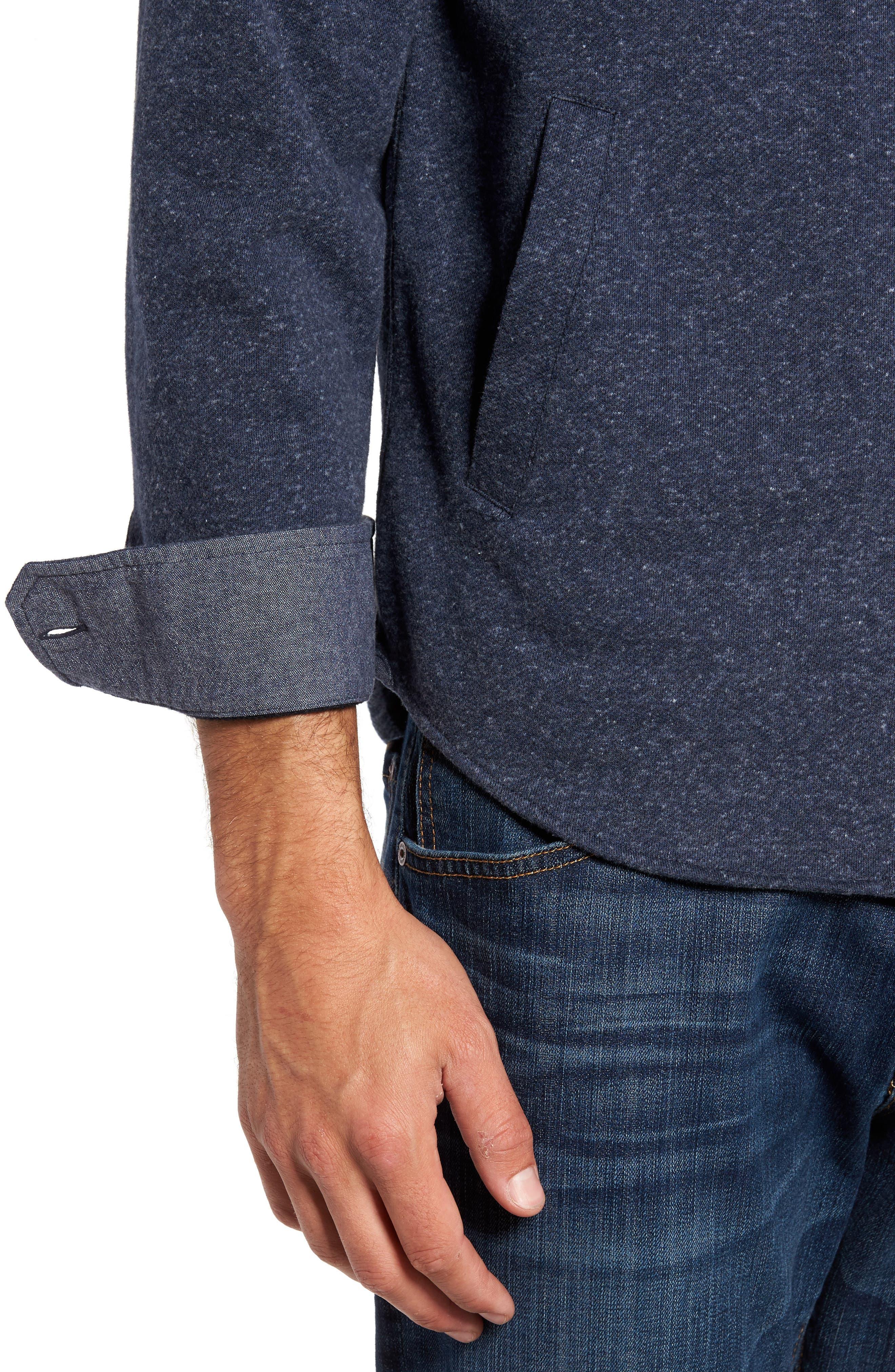 Bayswater Modern Fit Heathered Shirt Jacket,                             Alternate thumbnail 4, color,                             413