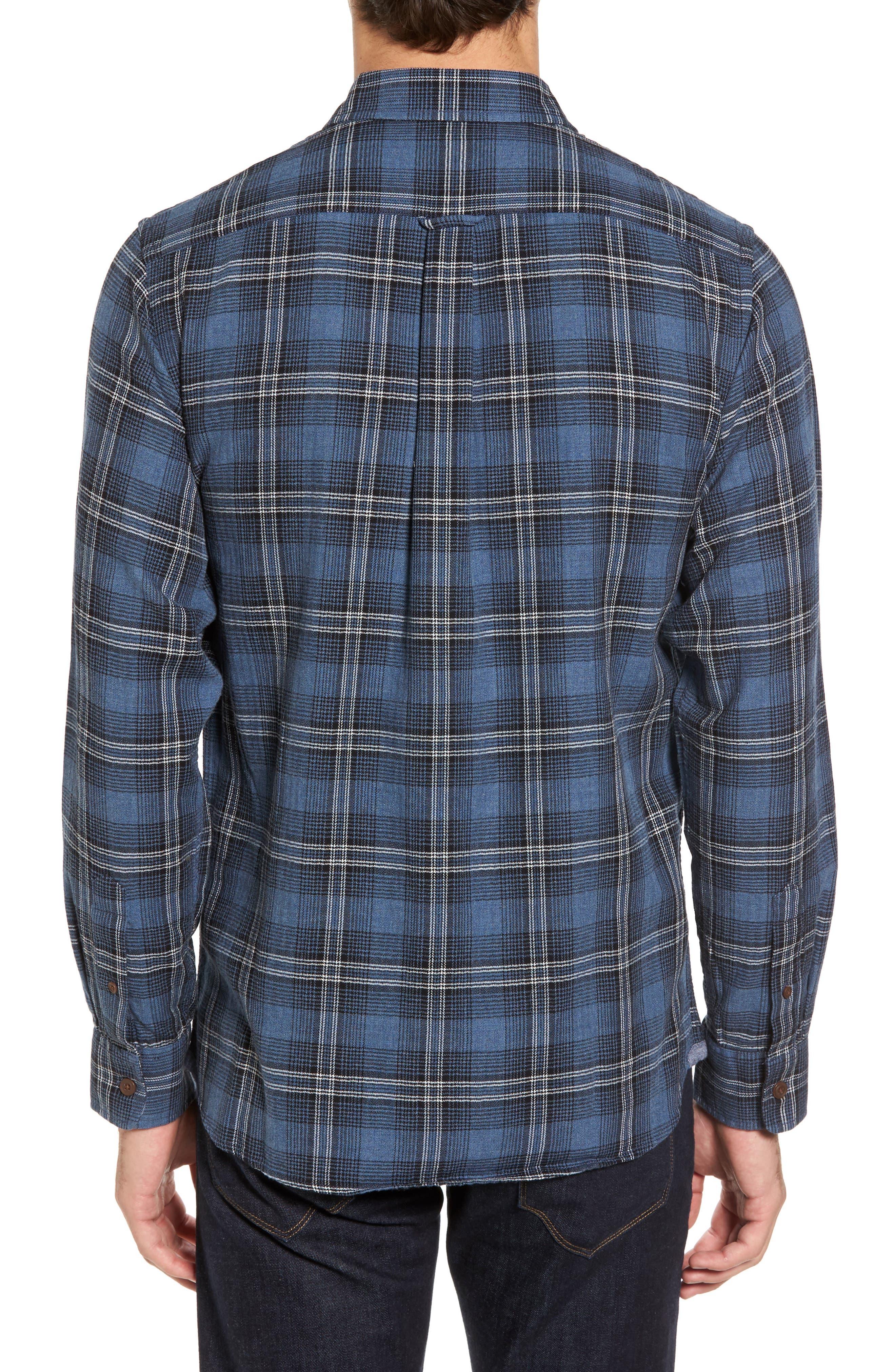 Truman Slim Fit Herringbone Twill Sport Shirt,                             Alternate thumbnail 2, color,