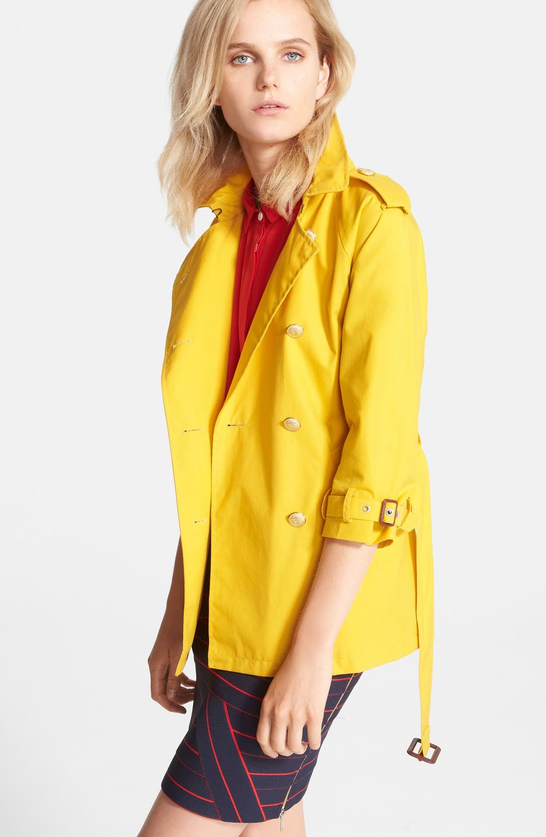 Belted A-Line Trench Coat,                             Alternate thumbnail 2, color,                             732