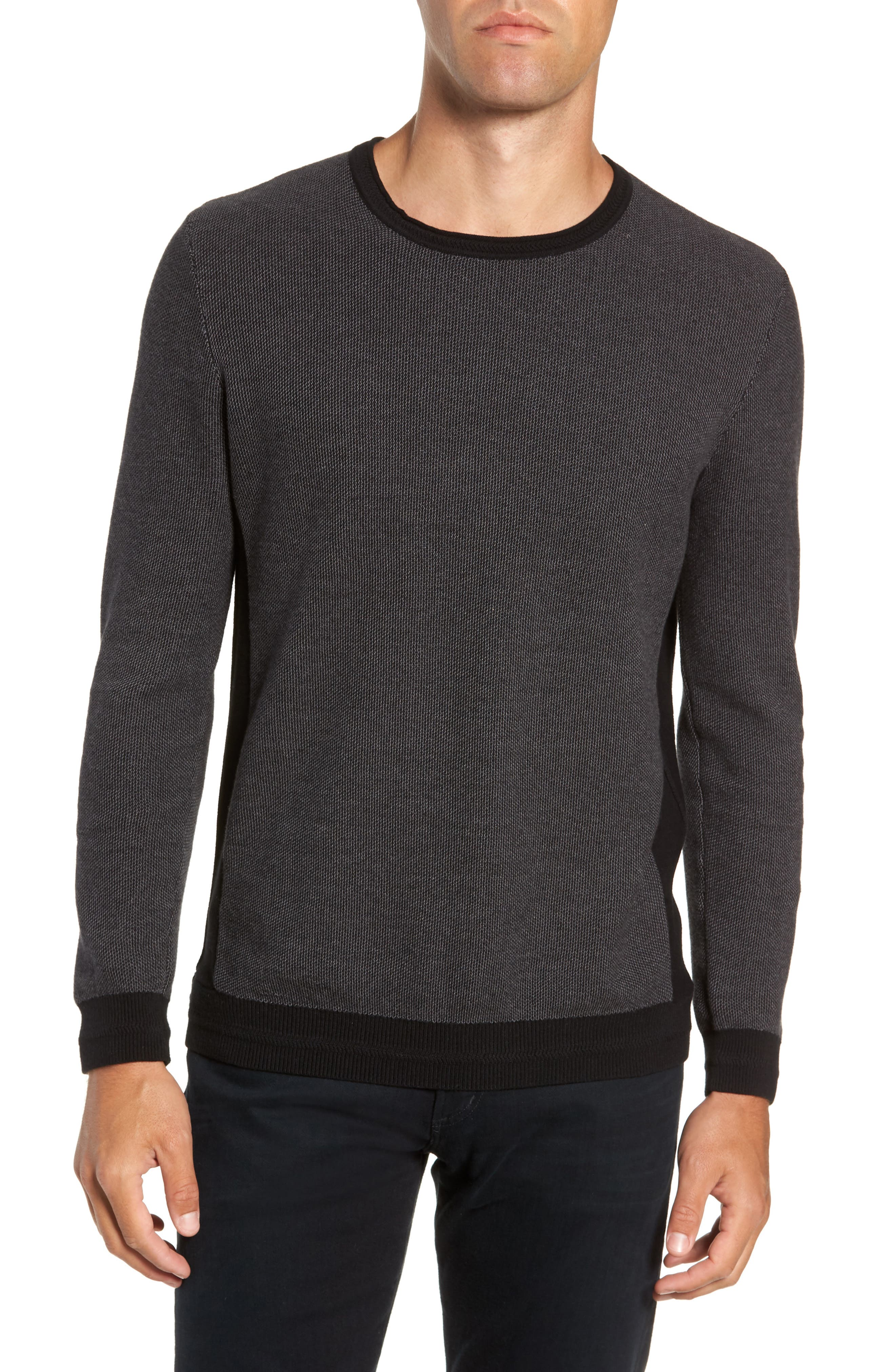 Vince Camuto Space Dye Slim Fit Sweater, Black