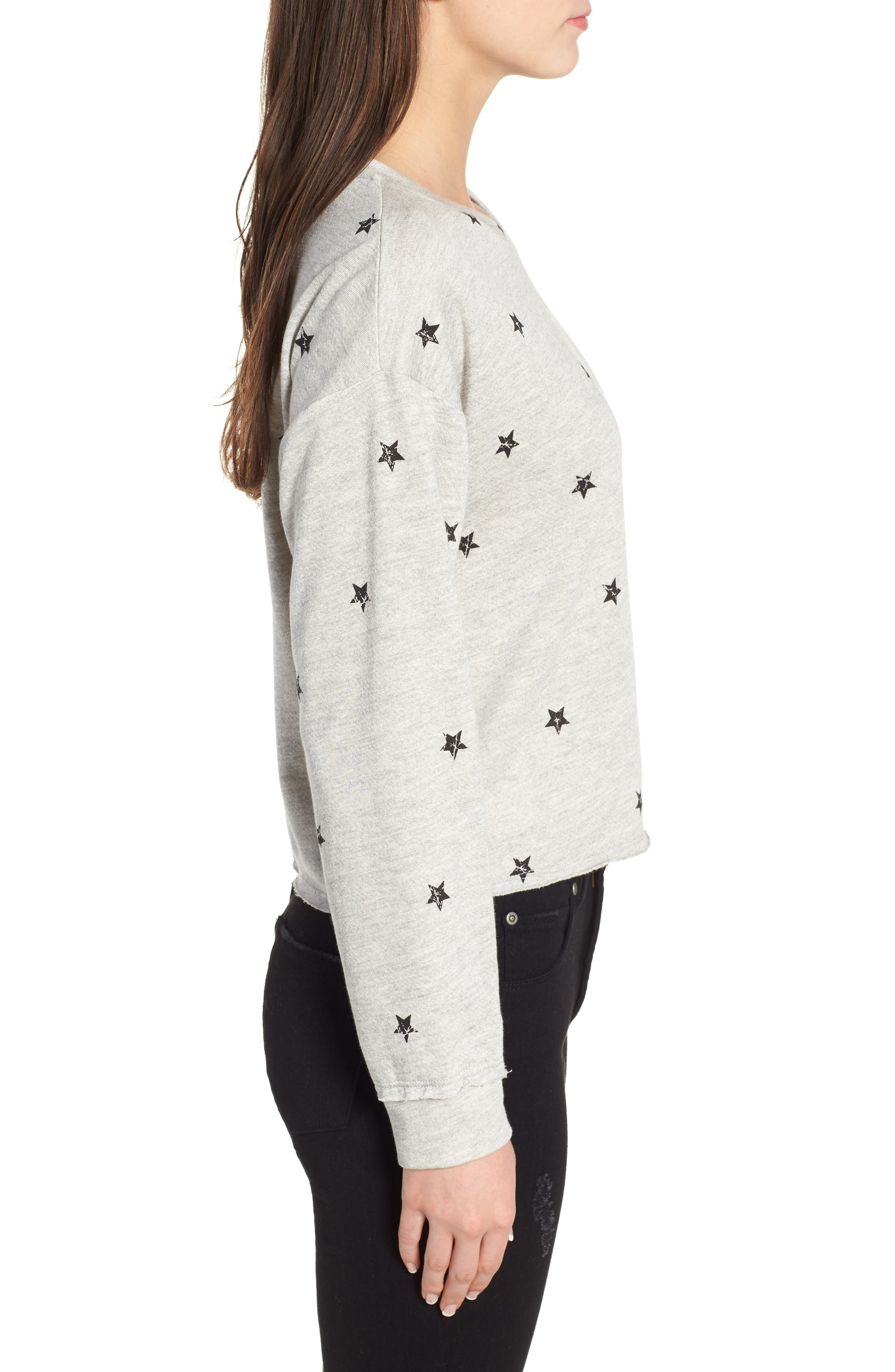 Star Print Sweatshirt,                             Alternate thumbnail 3, color,                             035