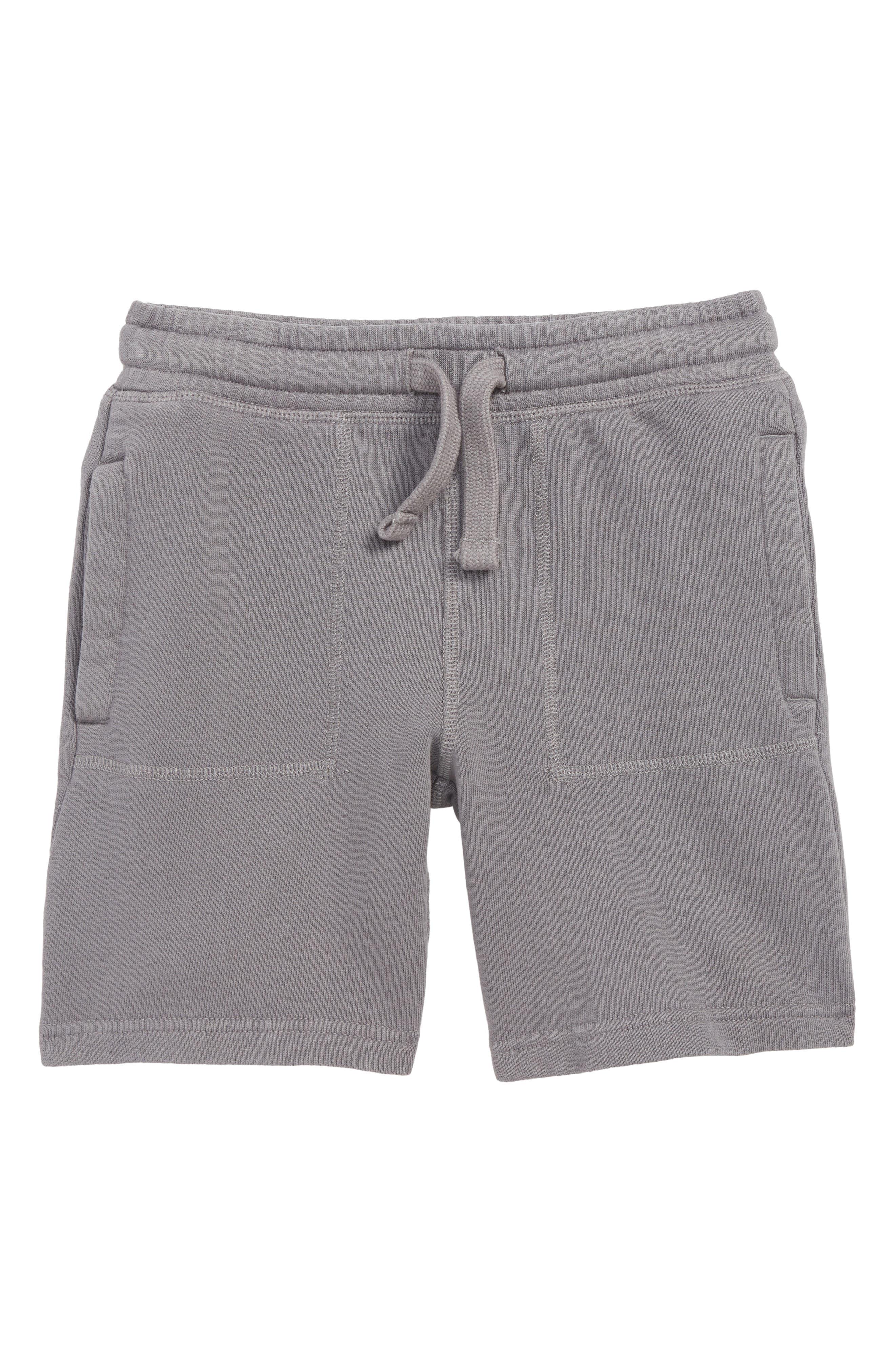 MINI BODEN,                             Garment Dyed Sweat Shorts,                             Main thumbnail 1, color,                             PEWTER GREY