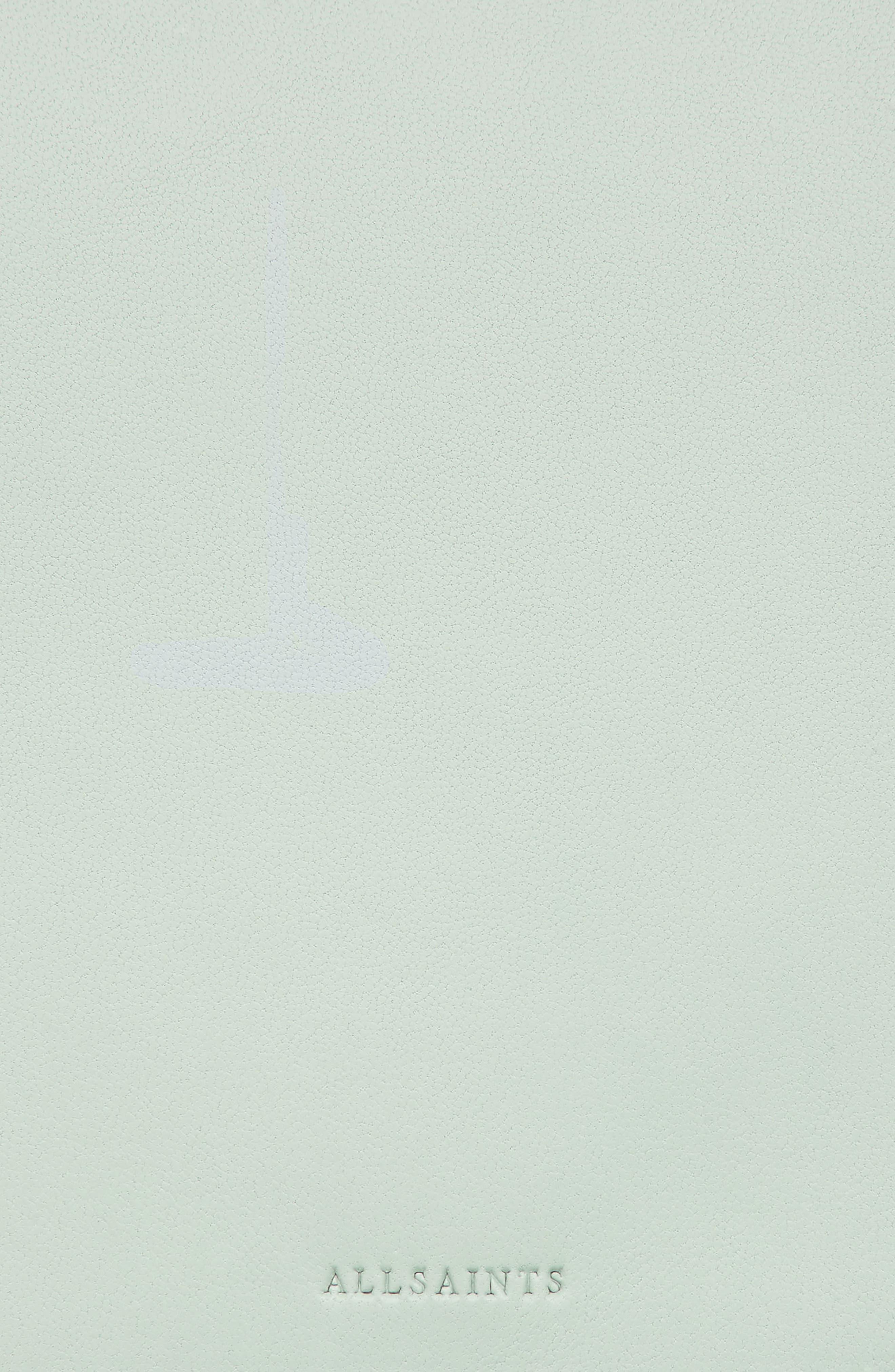Zep Colorblock Leather Shoulder Bag,                             Alternate thumbnail 6, color,                             MINT GREEN