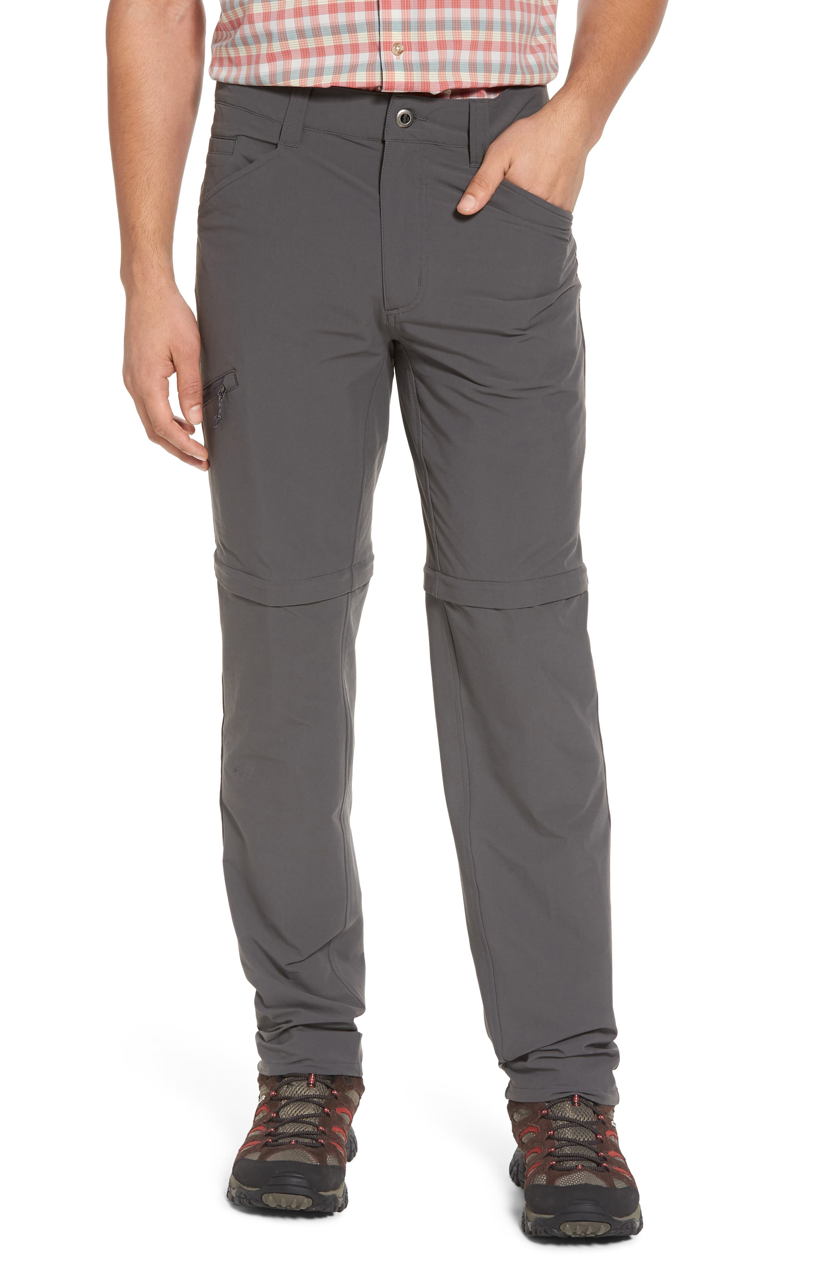 M's Quandry Convertible Pants,                         Main,                         color, FORGE GREY