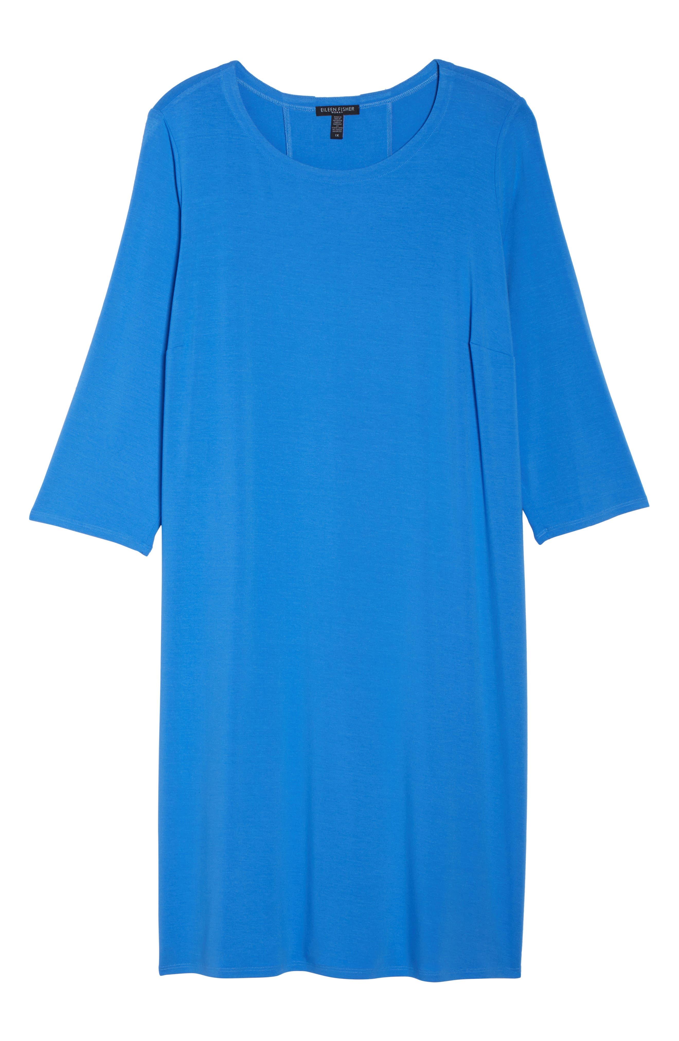 Jewel Neck Tie Back Dress,                             Alternate thumbnail 28, color,