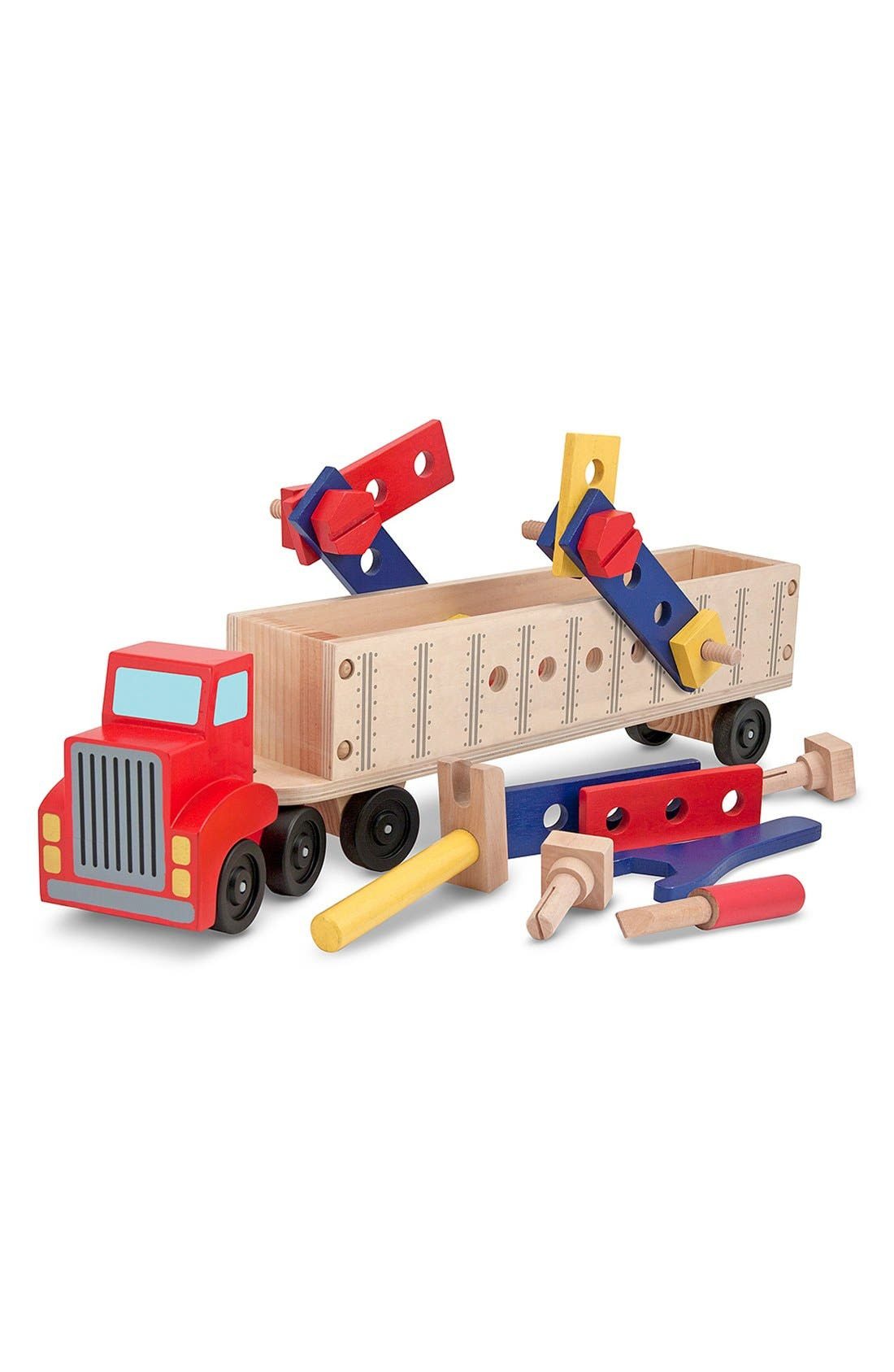'Big Rig' Personalized Building Set,                             Alternate thumbnail 6, color,                             RED
