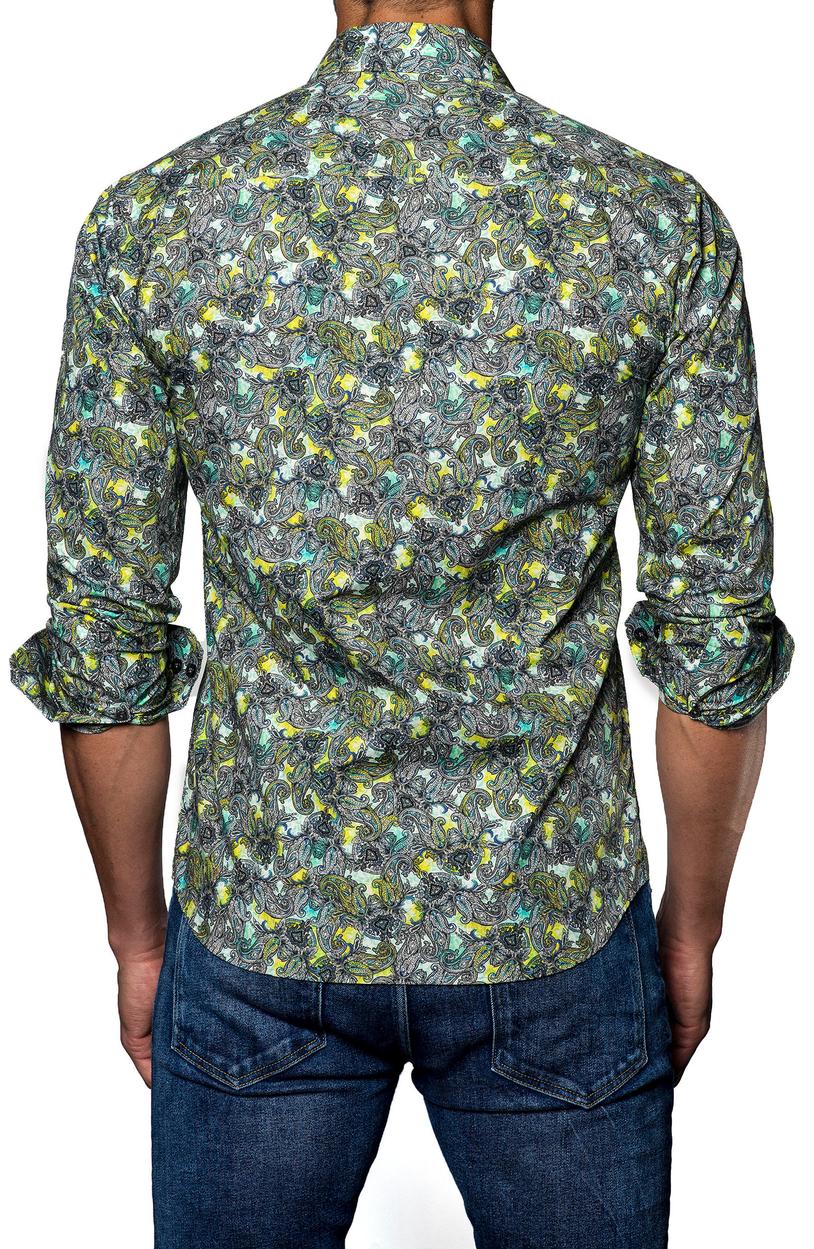 Trim Fit Print Sport Shirt,                             Alternate thumbnail 2, color,