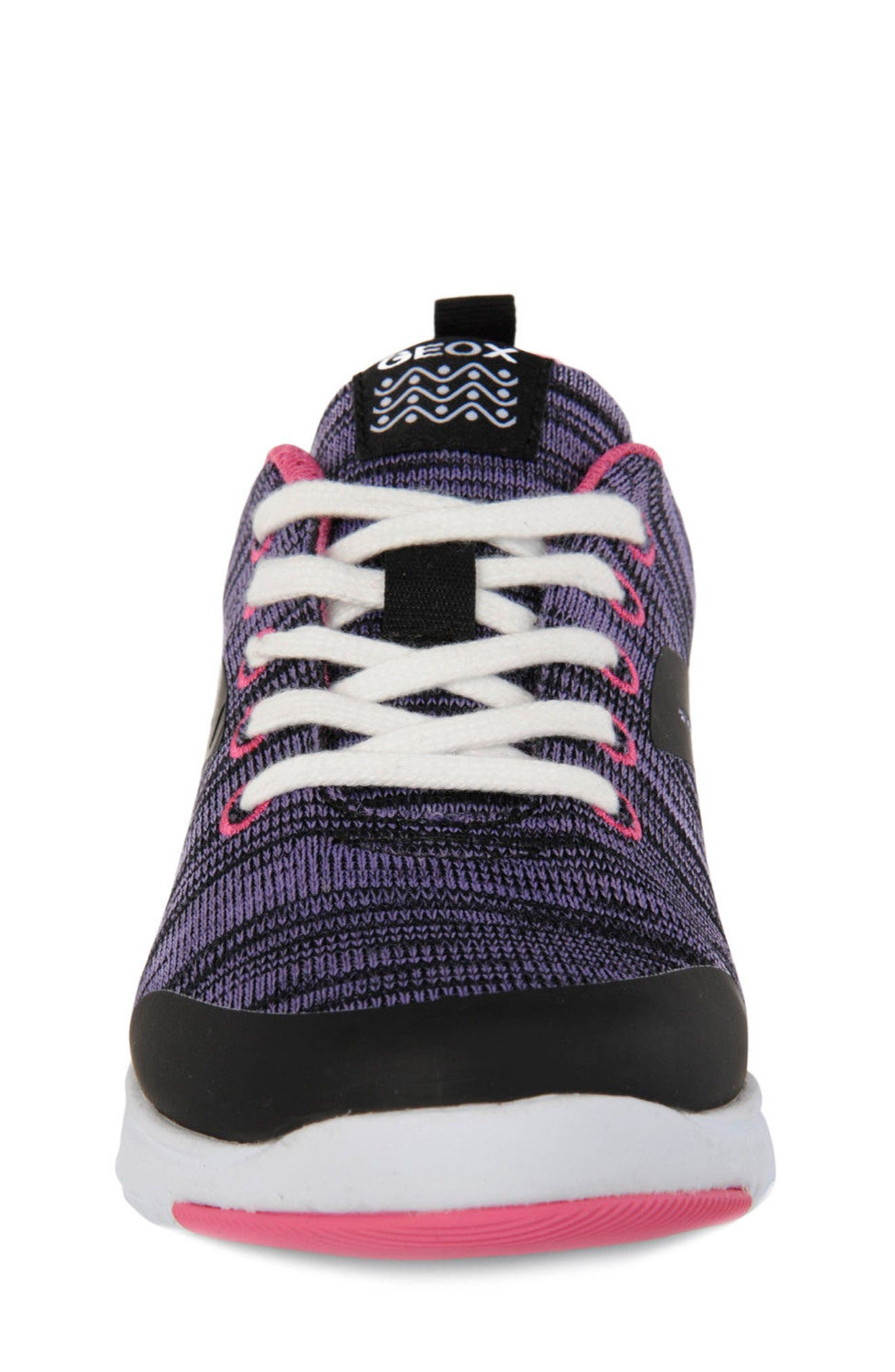 GEOX,                             Xunday Performance Knit Low Top Sneaker,                             Alternate thumbnail 4, color,                             574