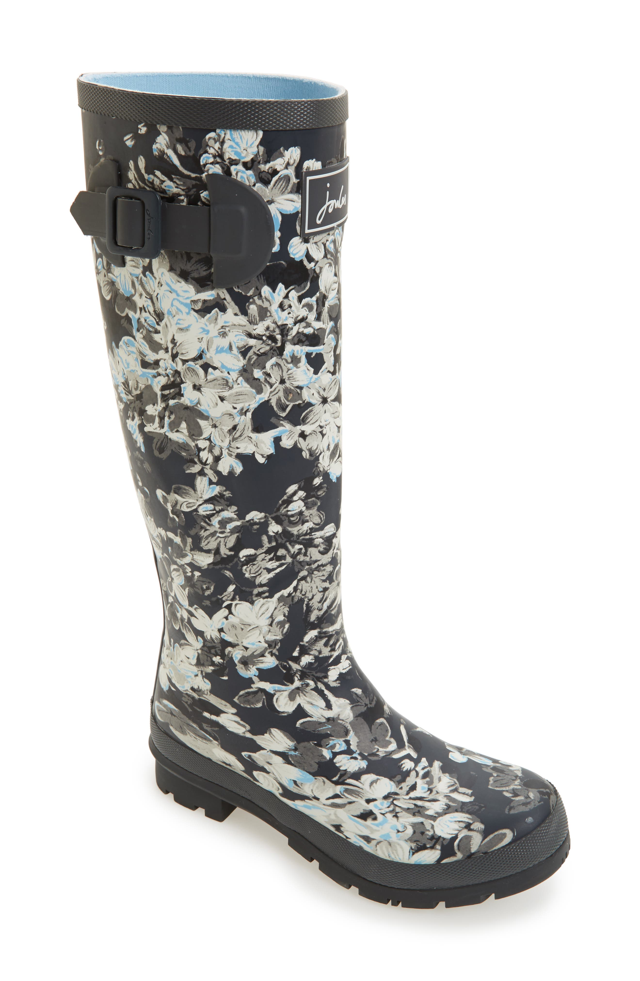 'Welly' Print Rain Boot,                             Main thumbnail 32, color,