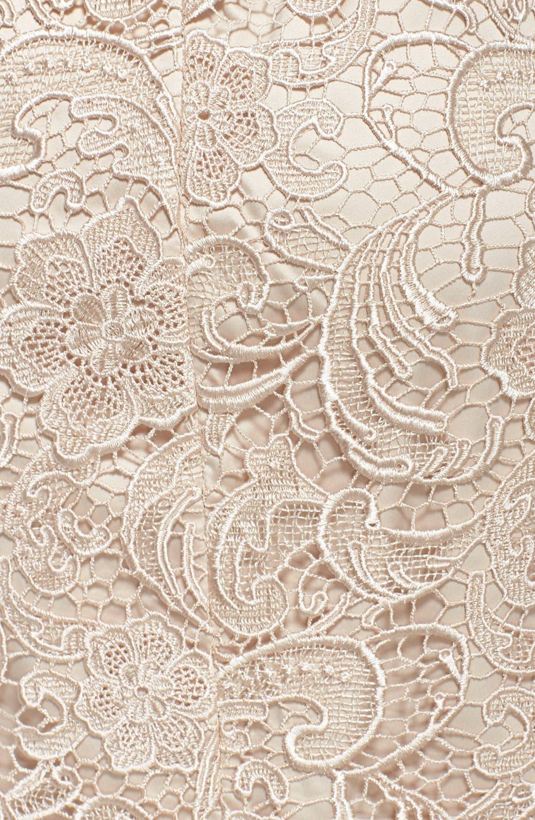 Illusion Bodice Lace Sheath Dress,                             Alternate thumbnail 25, color,
