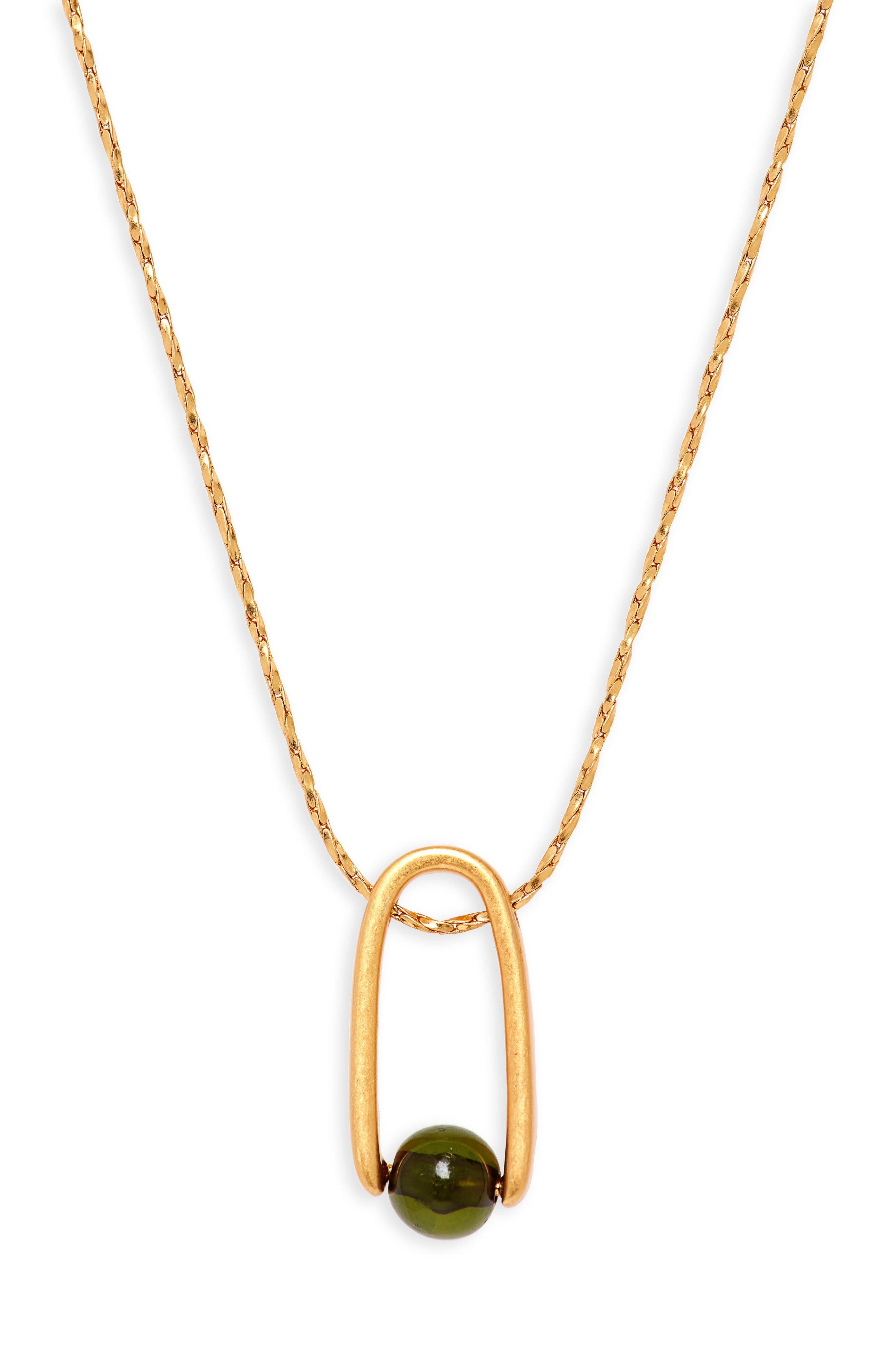 Resin Pinball Pendant Necklace,                             Main thumbnail 1, color,                             710