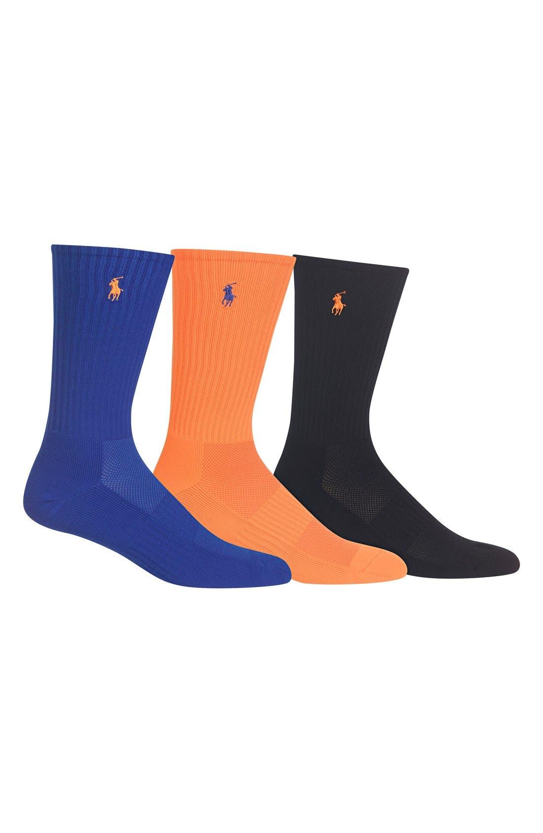 Tech Athletic Crew Socks,                             Main thumbnail 7, color,