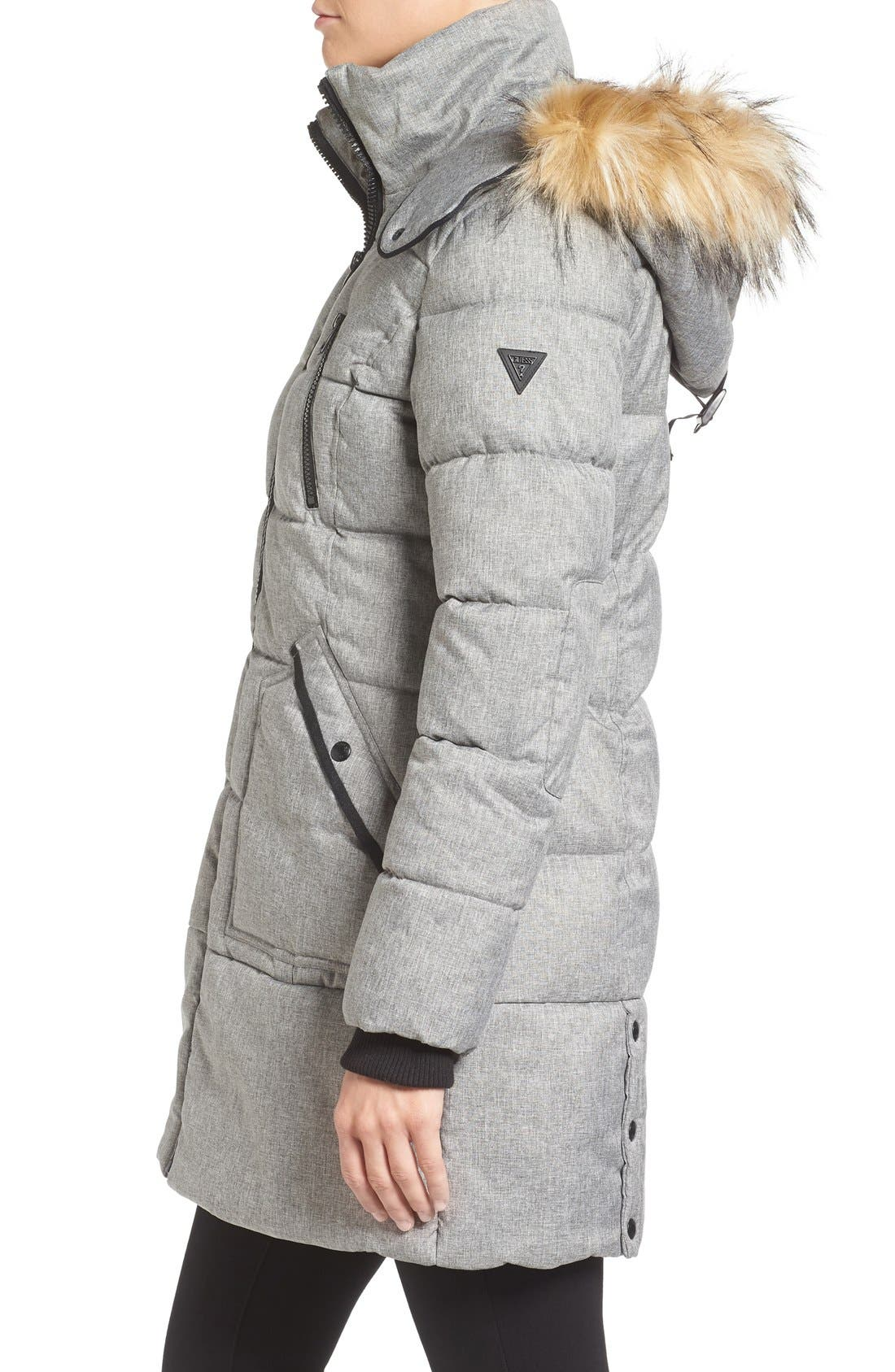 'Expedition' Quilted Parka with Faux Fur Trim,                             Alternate thumbnail 13, color,