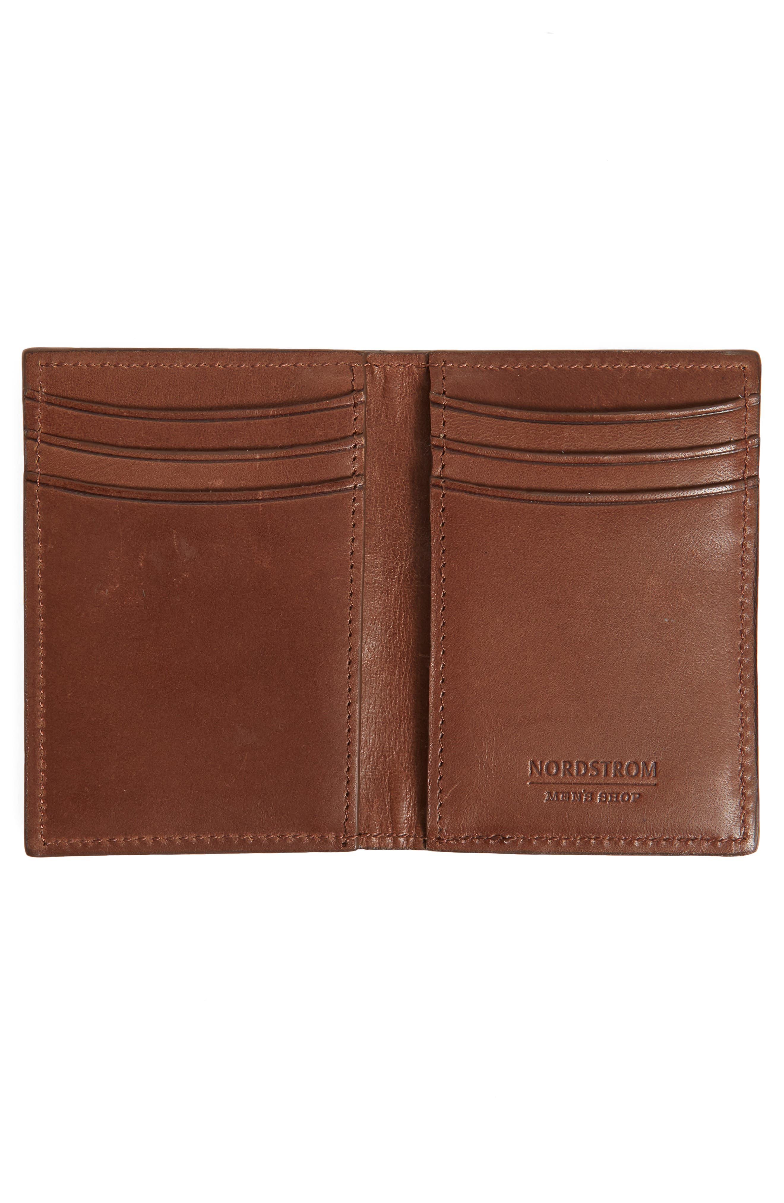 Parker Leather Bifold Card Case,                             Alternate thumbnail 4, color,
