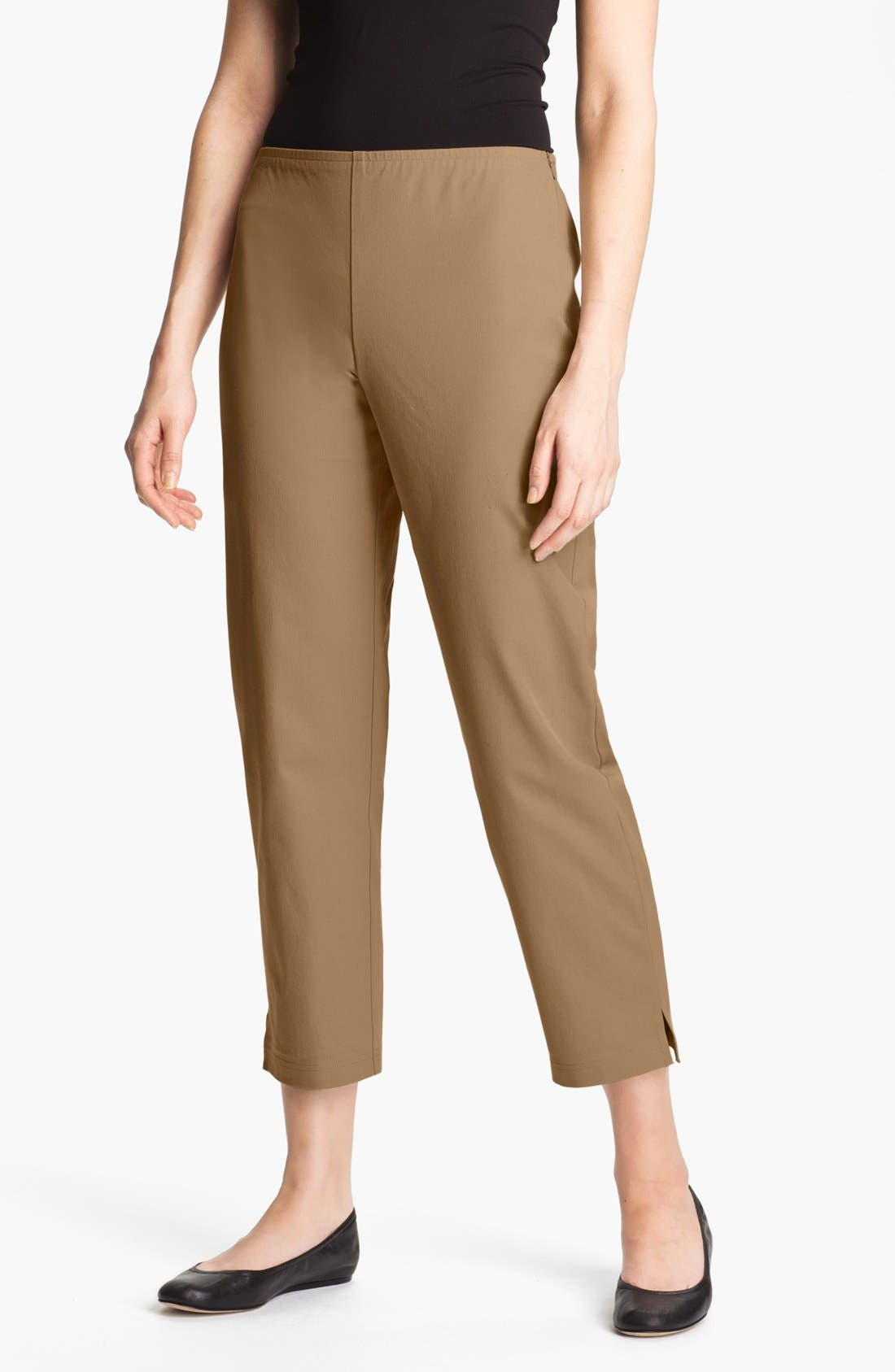 Organic Stretch Cotton Twill Ankle Pants,                             Main thumbnail 18, color,