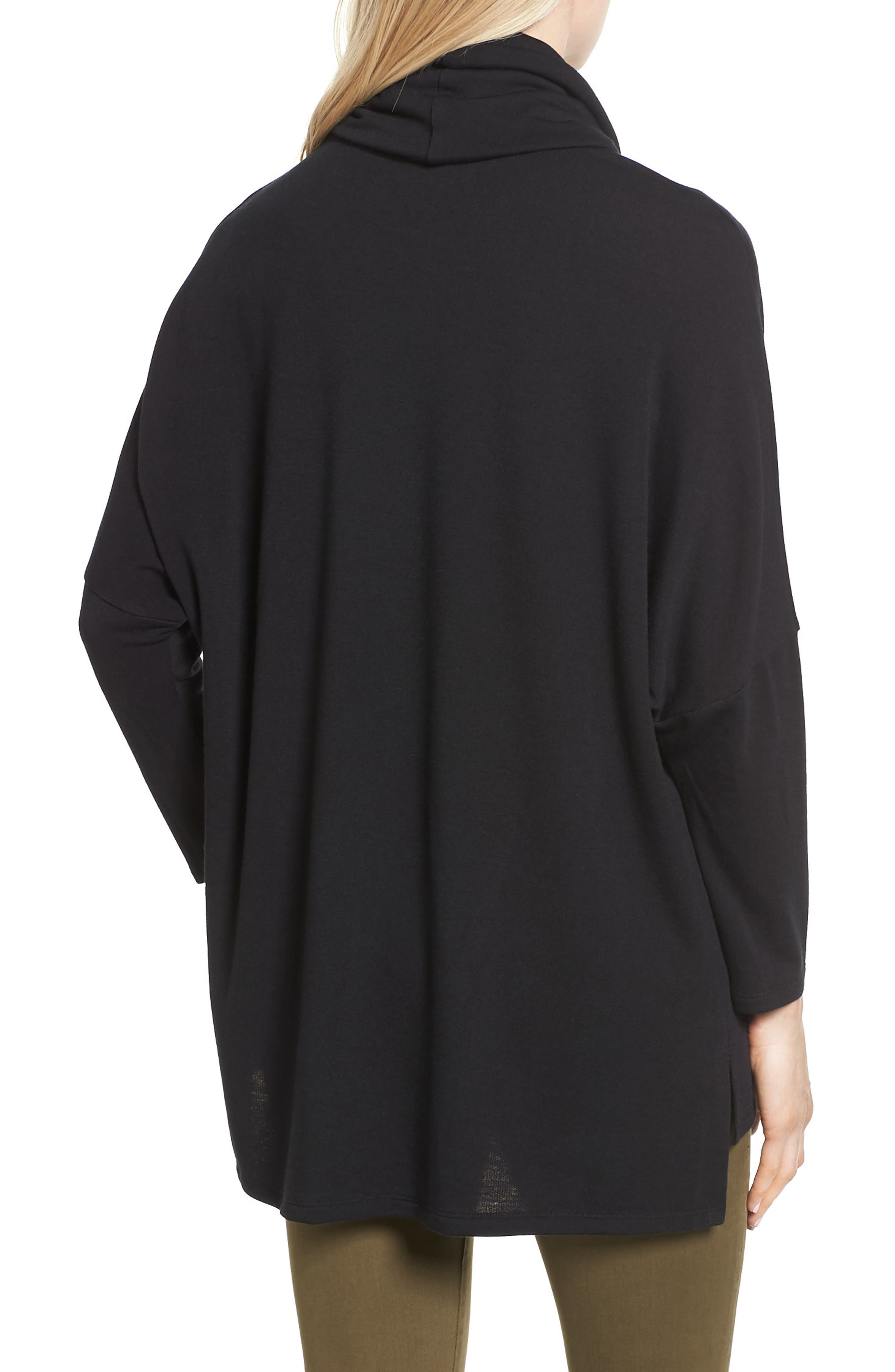 High/Low Tunic,                             Alternate thumbnail 2, color,                             BLACK