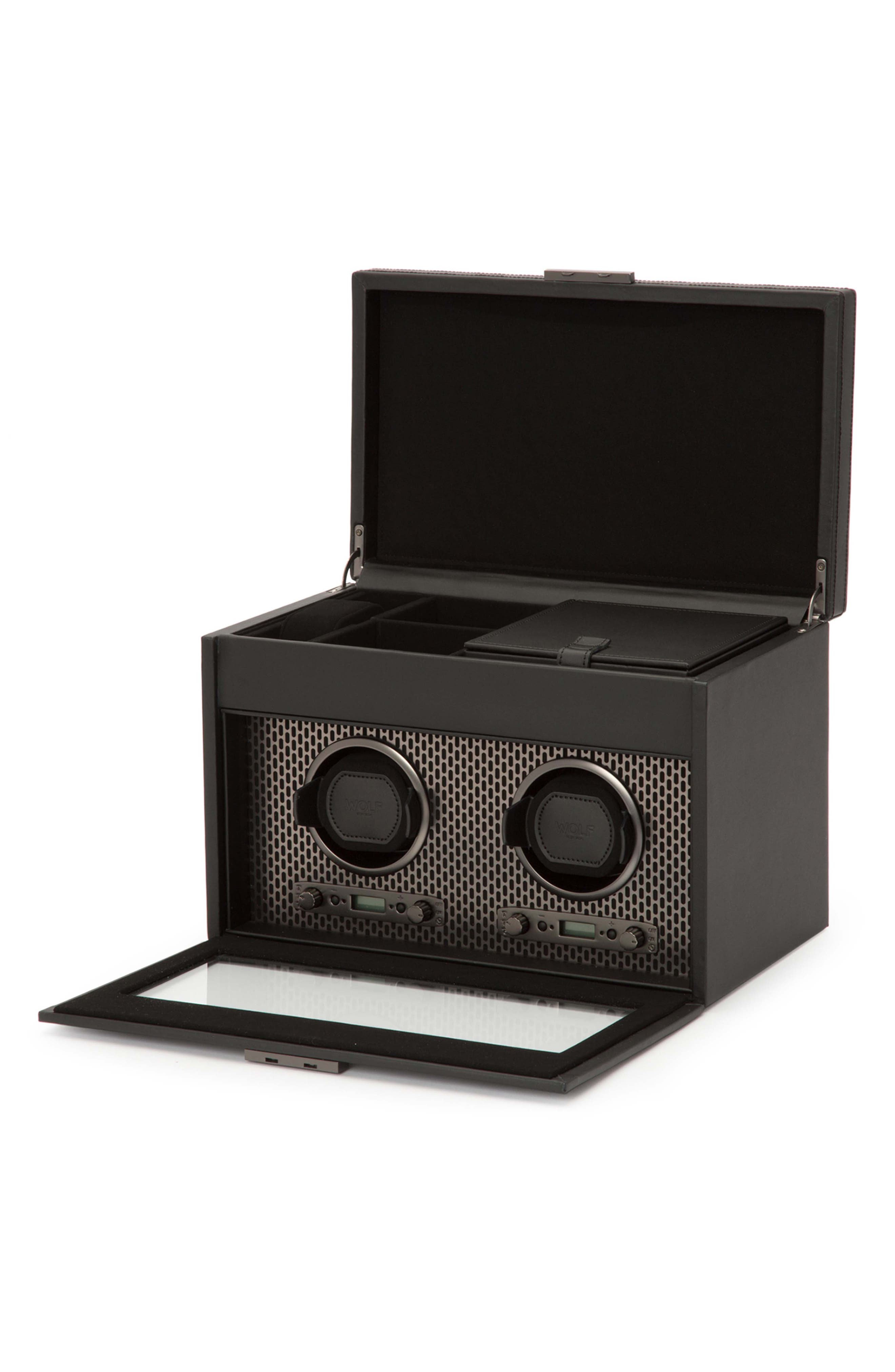Axis Double Watch Winder & Case,                             Alternate thumbnail 5, color,                             POWDER COAT