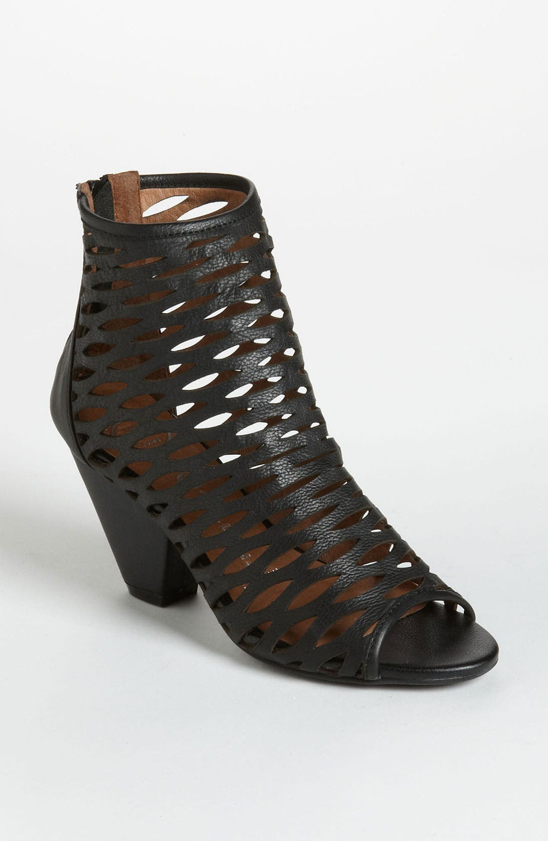 'Produce' Open Toe Bootie,                             Main thumbnail 1, color,                             001