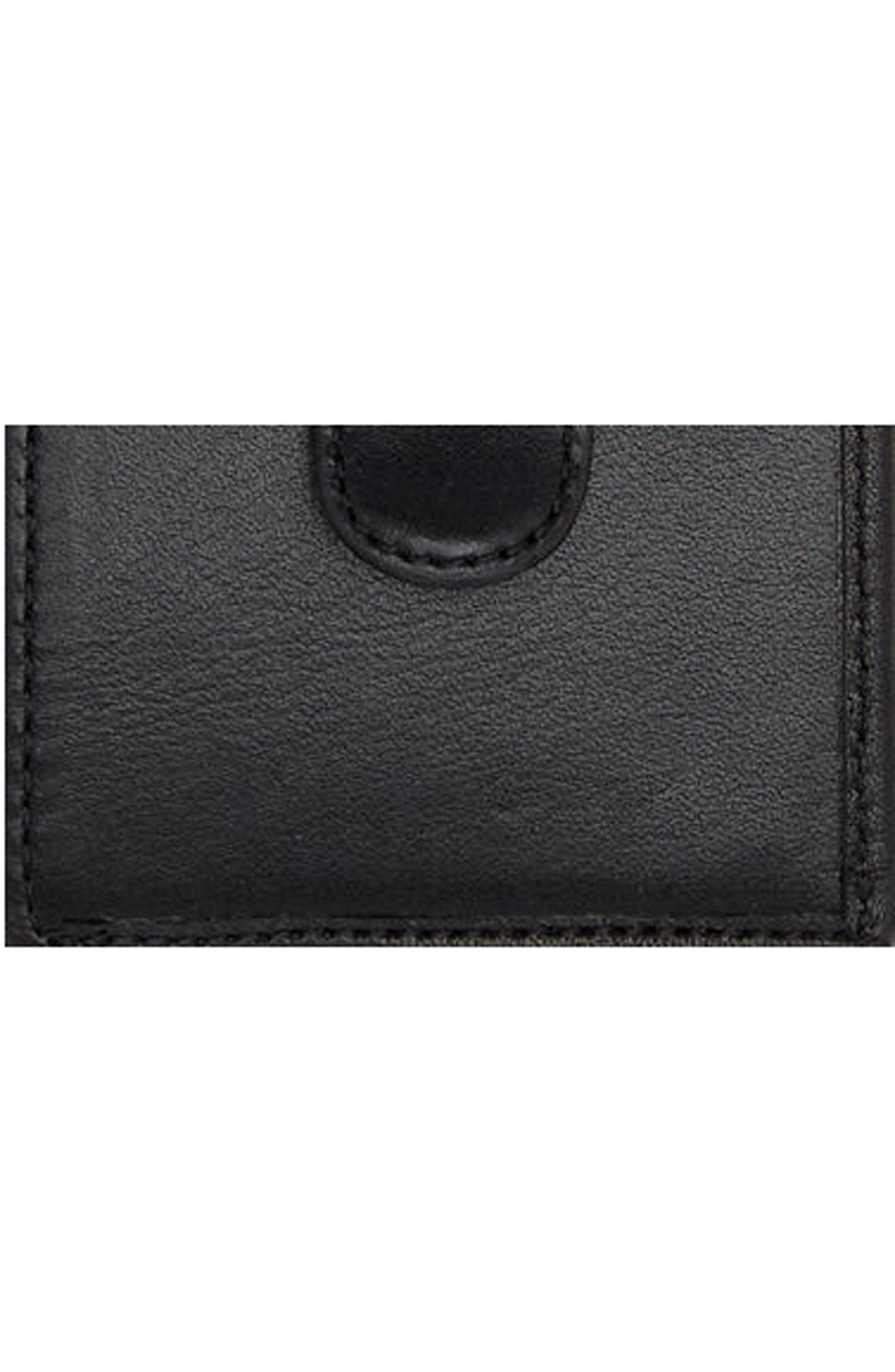 Alpha Money Clip Card Case,                             Alternate thumbnail 3, color,                             ANTHRACITE/ BLACK