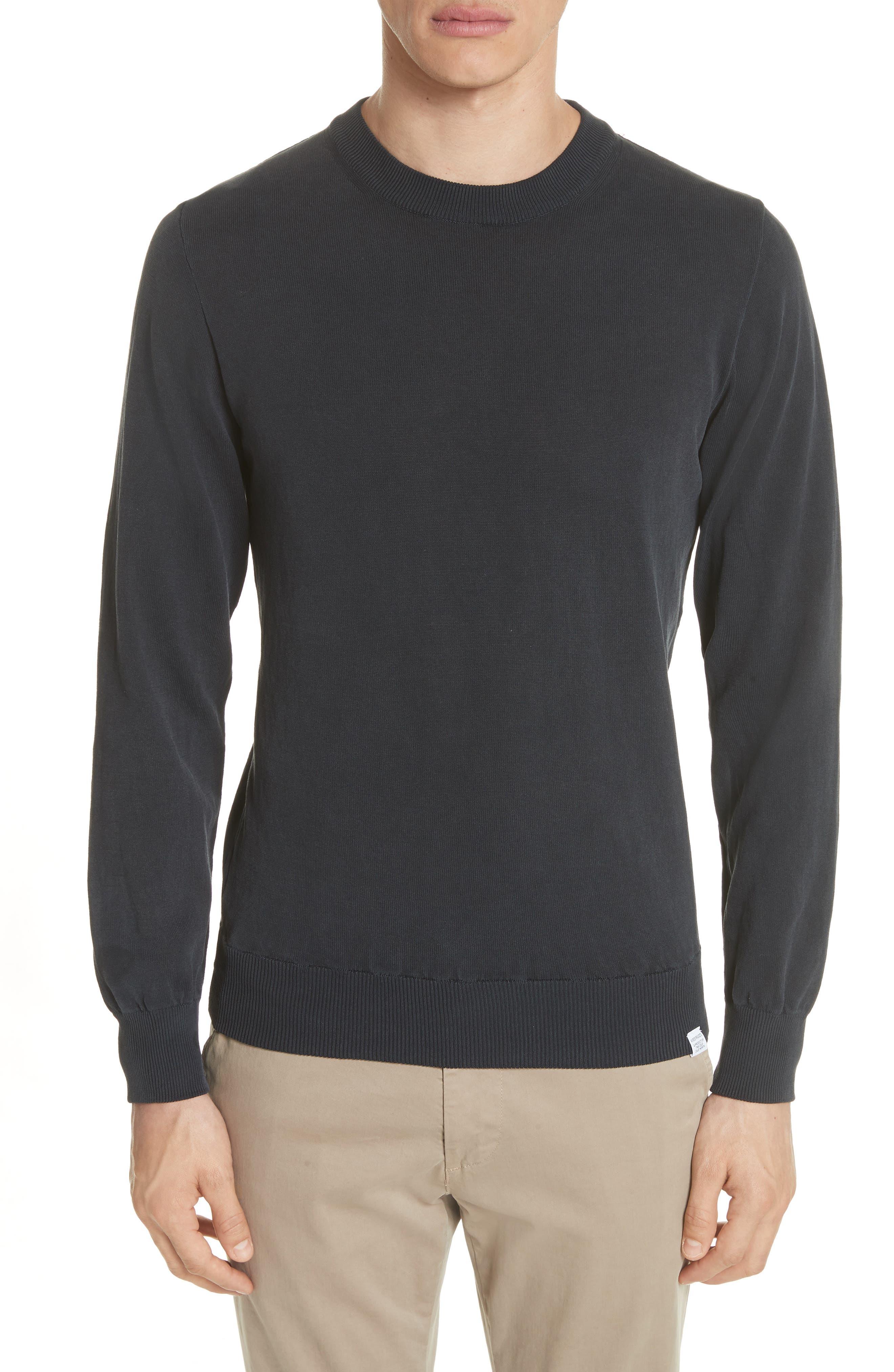 Magnus Combed Cotton Crewneck Sweater,                         Main,                         color, 410