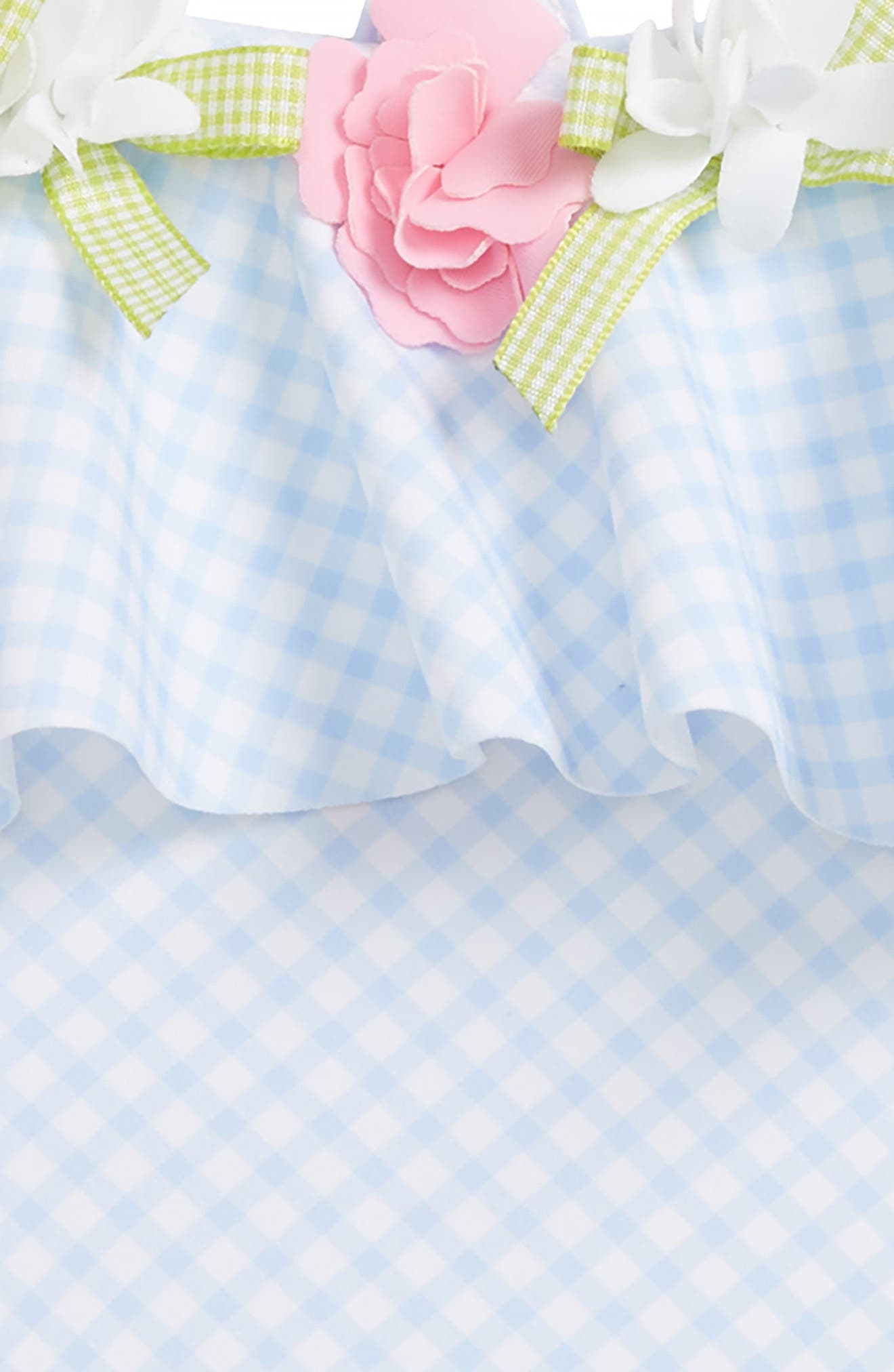 Gingham One-Piece Swimsuit,                             Alternate thumbnail 3, color,                             400