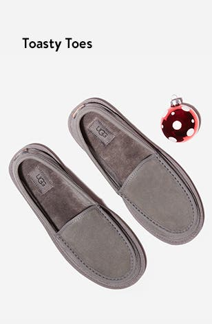 Toasty toes: men's slippers.