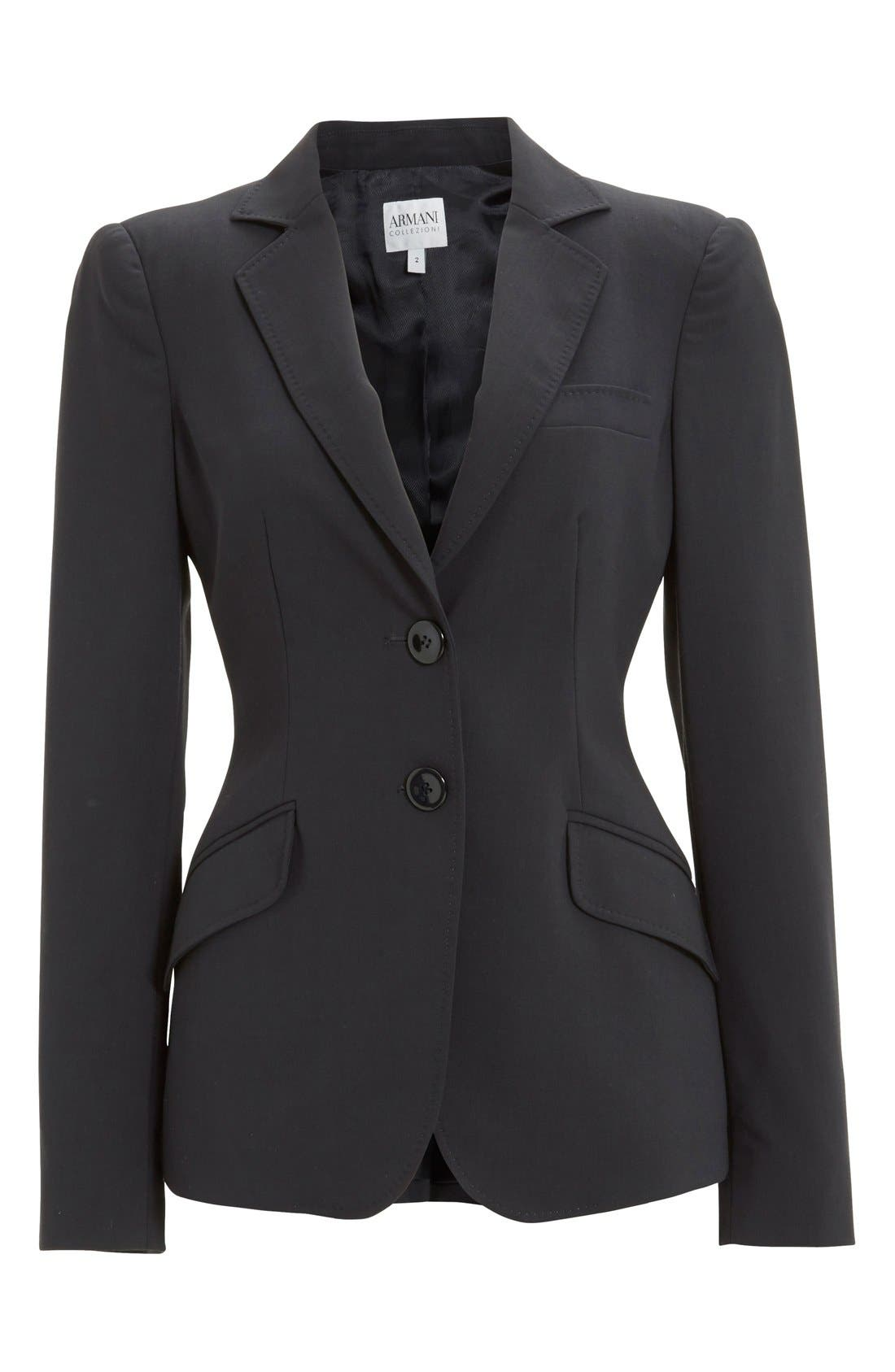 Two-Button Featherweight Wool Jacket,                             Alternate thumbnail 5, color,                             459