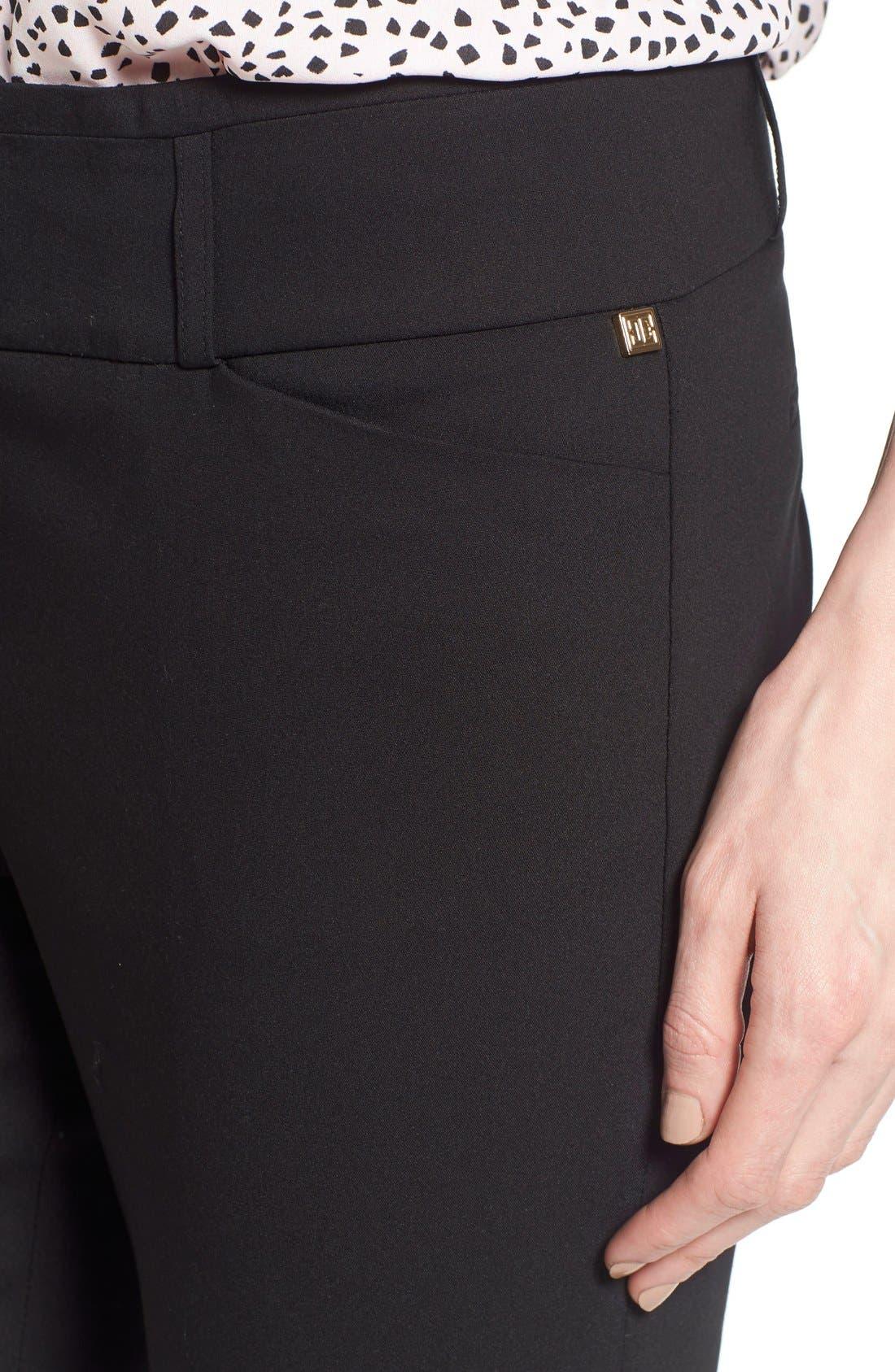 Compression Front Ankle Pants,                             Alternate thumbnail 2, color,                             001