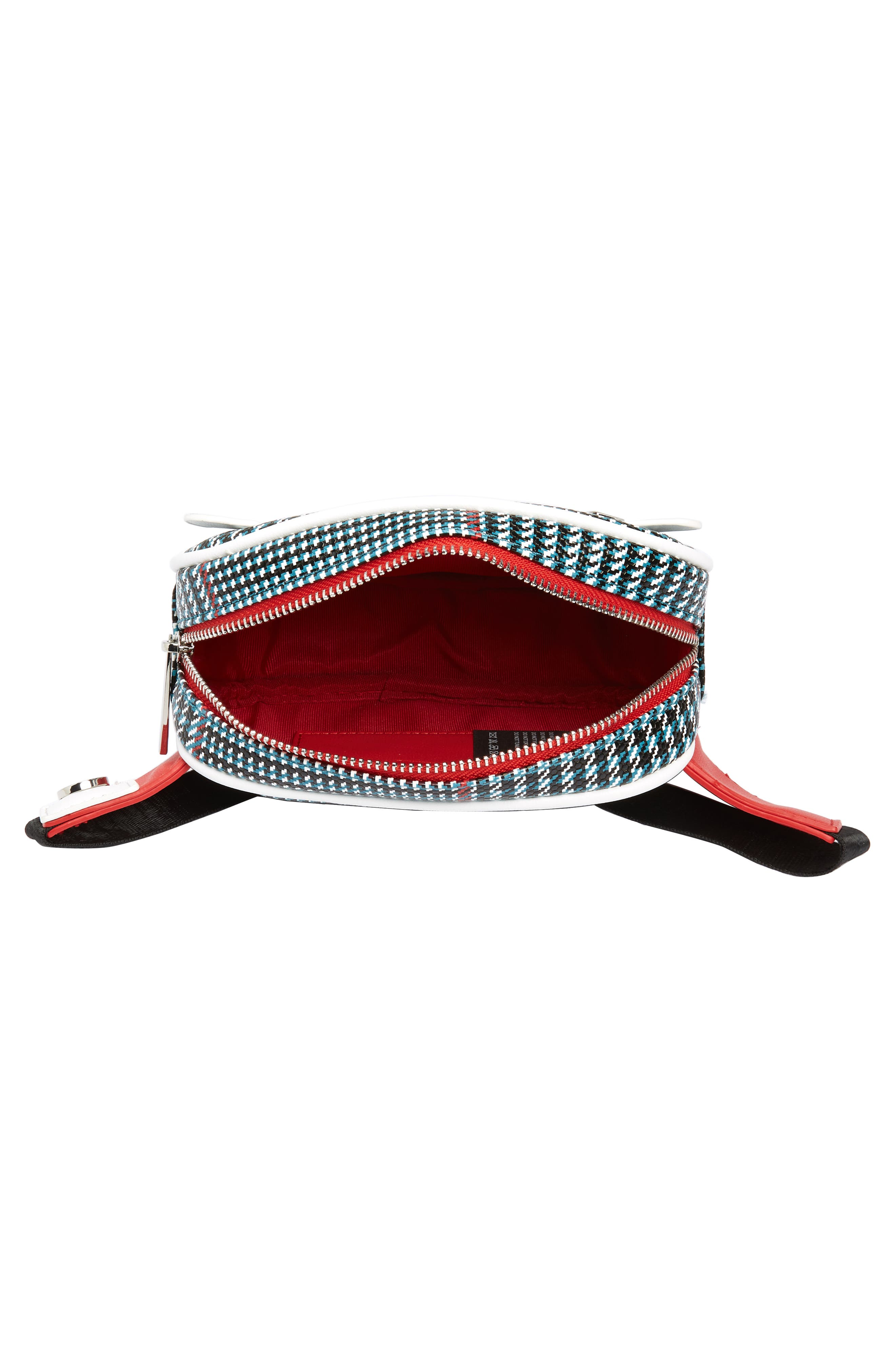 Houndstooth Belt Bag,                             Alternate thumbnail 5, color,                             BLUE MULTI