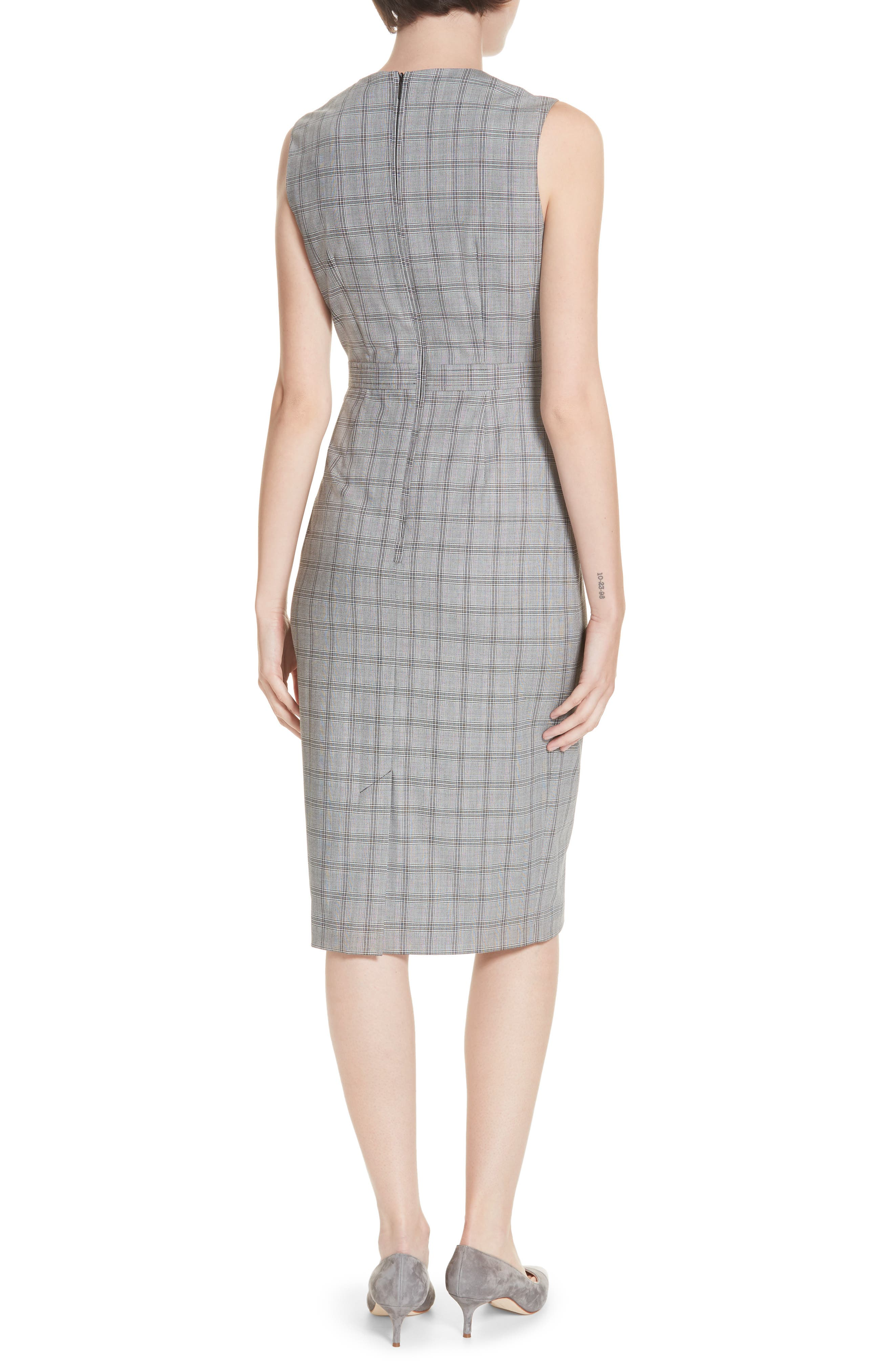 Ted Working Title Ristad Check Sheath Dress,                             Alternate thumbnail 2, color,                             GREY