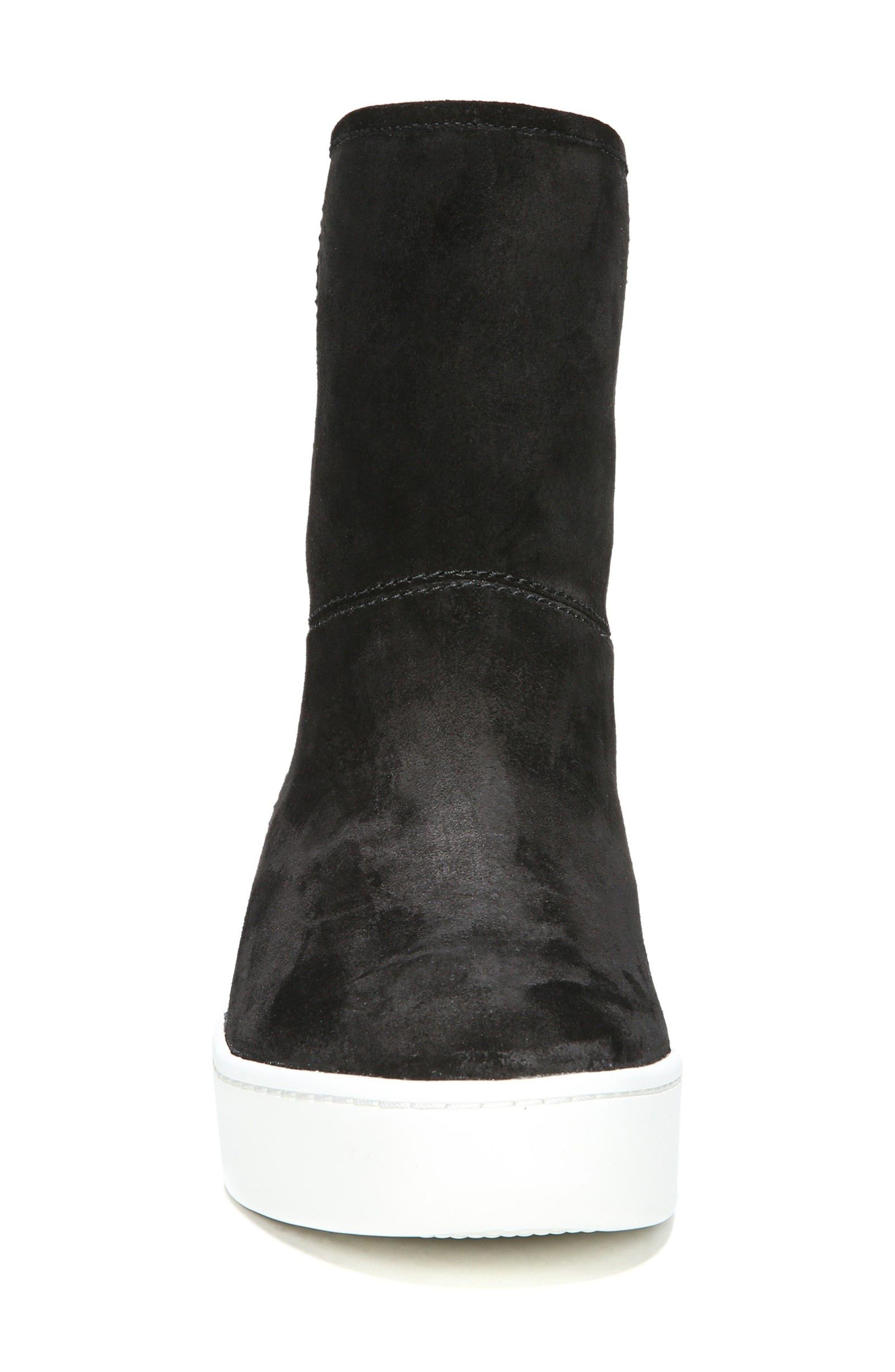 Elona Genuine Shearling Lined Sneaker Boot,                             Alternate thumbnail 4, color,                             001